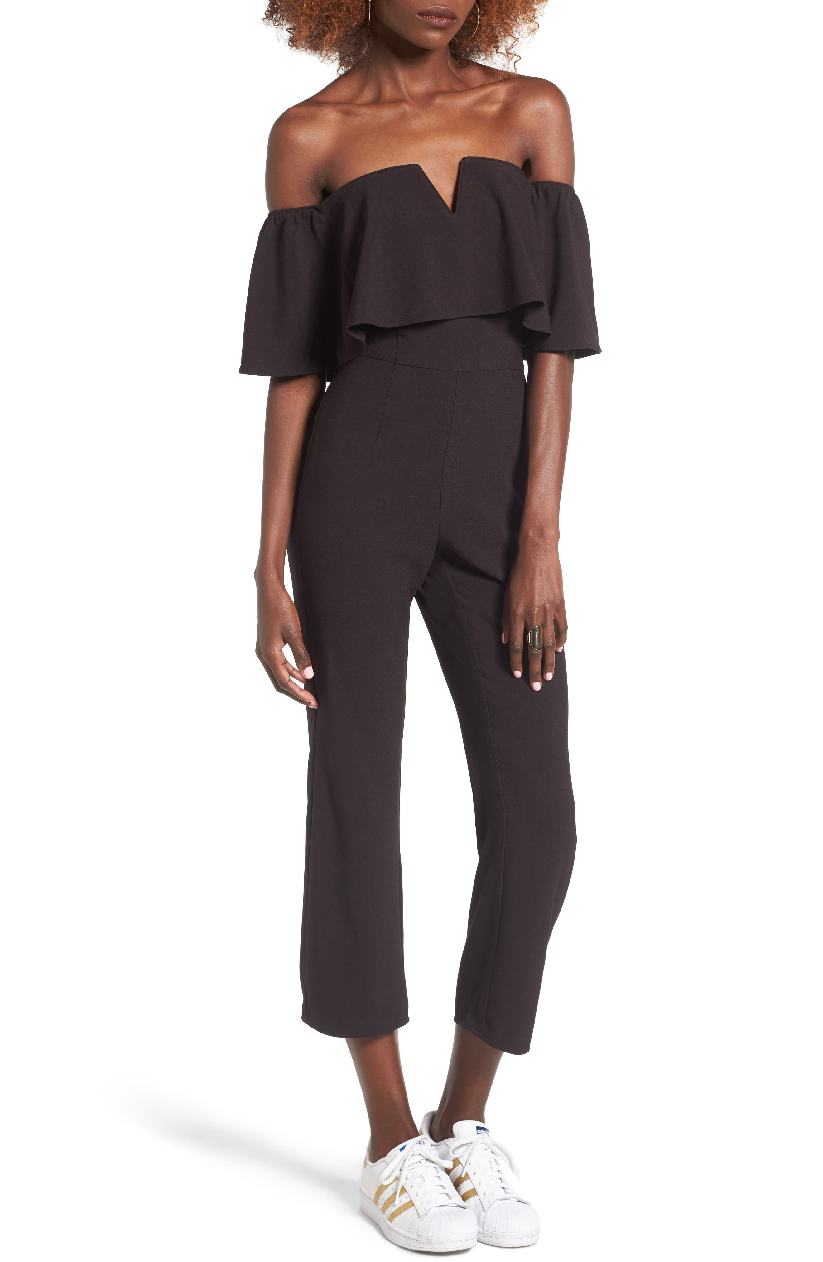 Alternate Image 1 Selected - Leith Strapless Off the Shoulder Jumpsuit