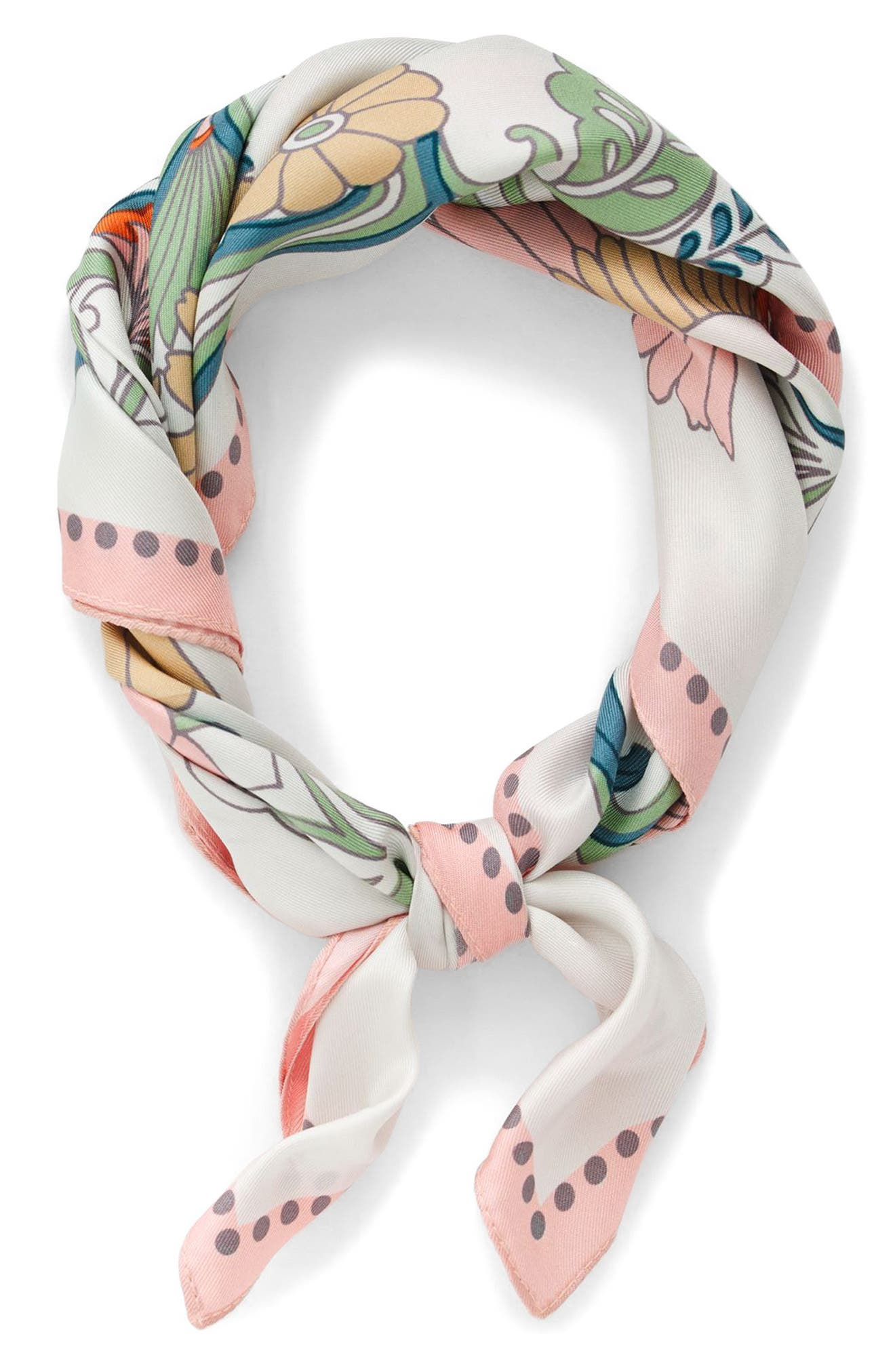 Main Image - J.Crew Ornate Floral Silk Italian Silk Scarf