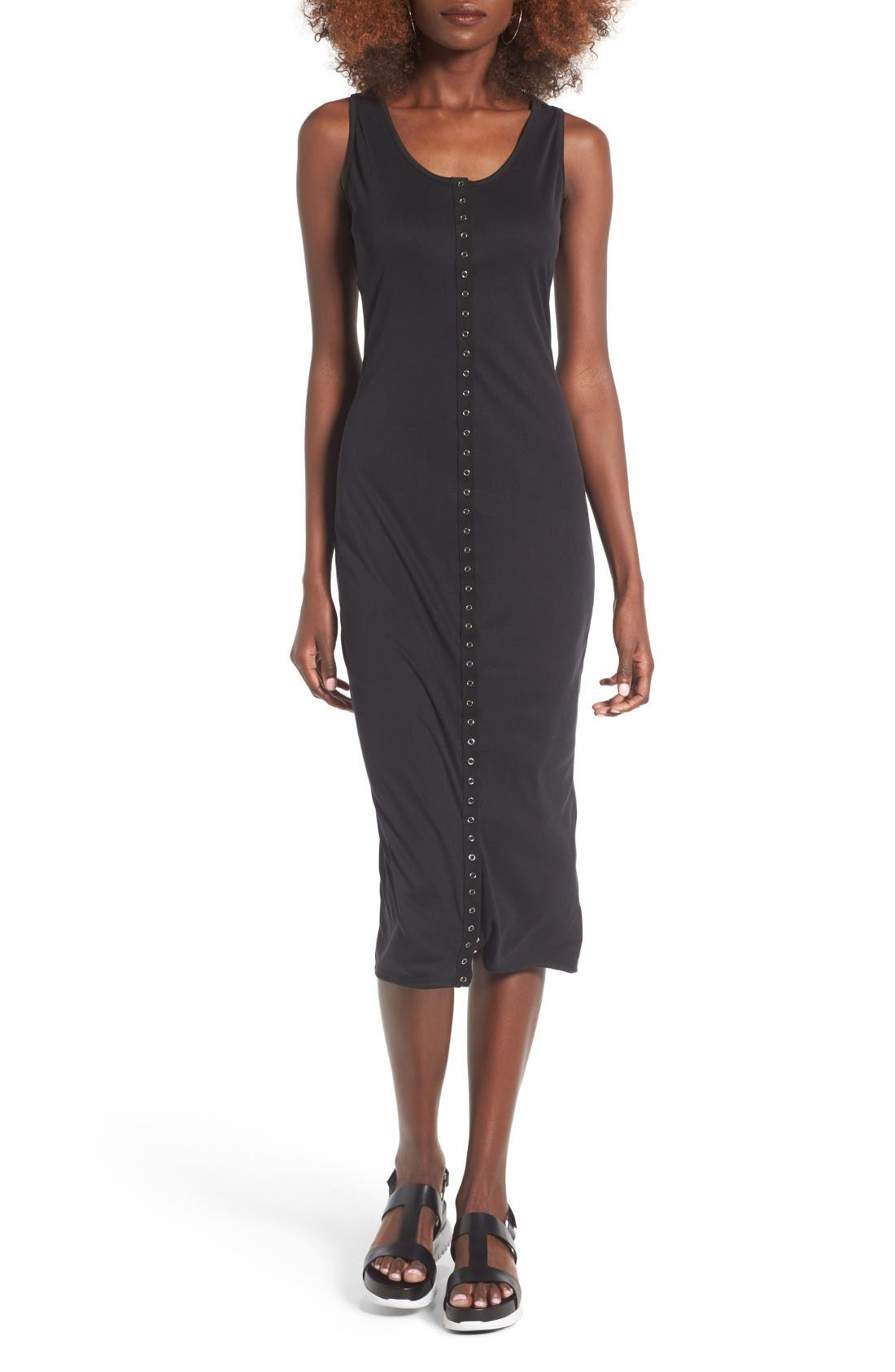 BP. Snap Front Midi Dress
