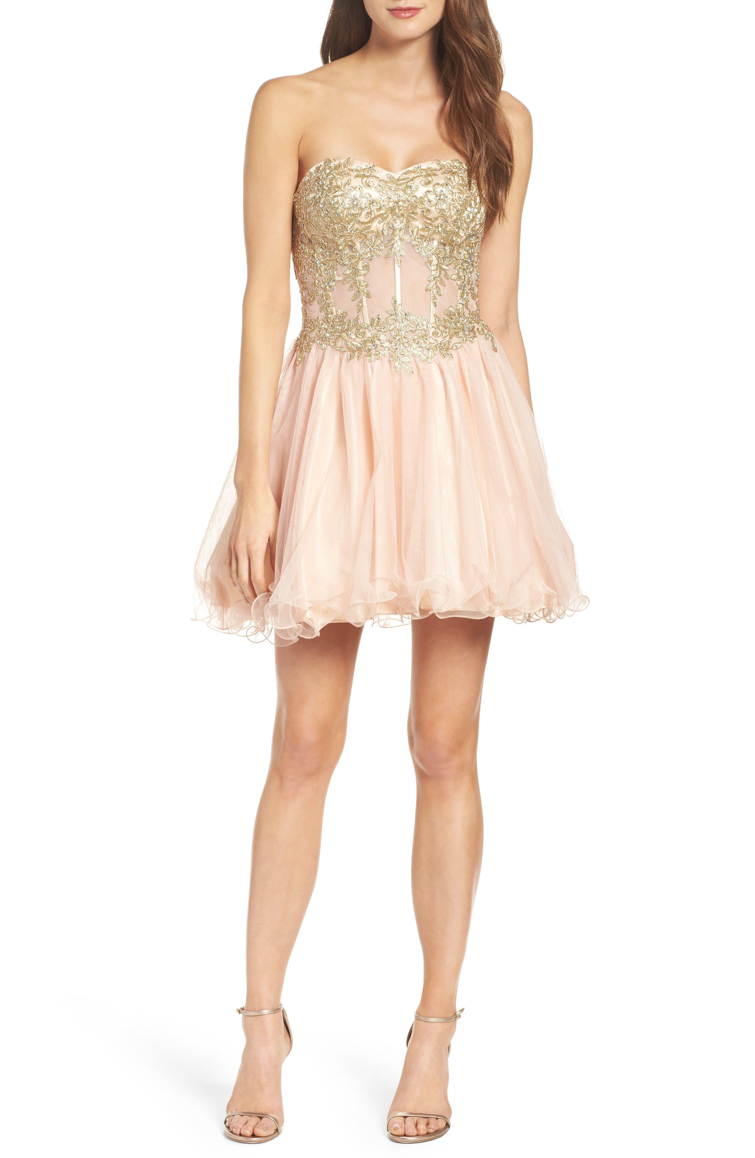 Alternate Image 4  - Blondie Nites Strapless Bustier Dress