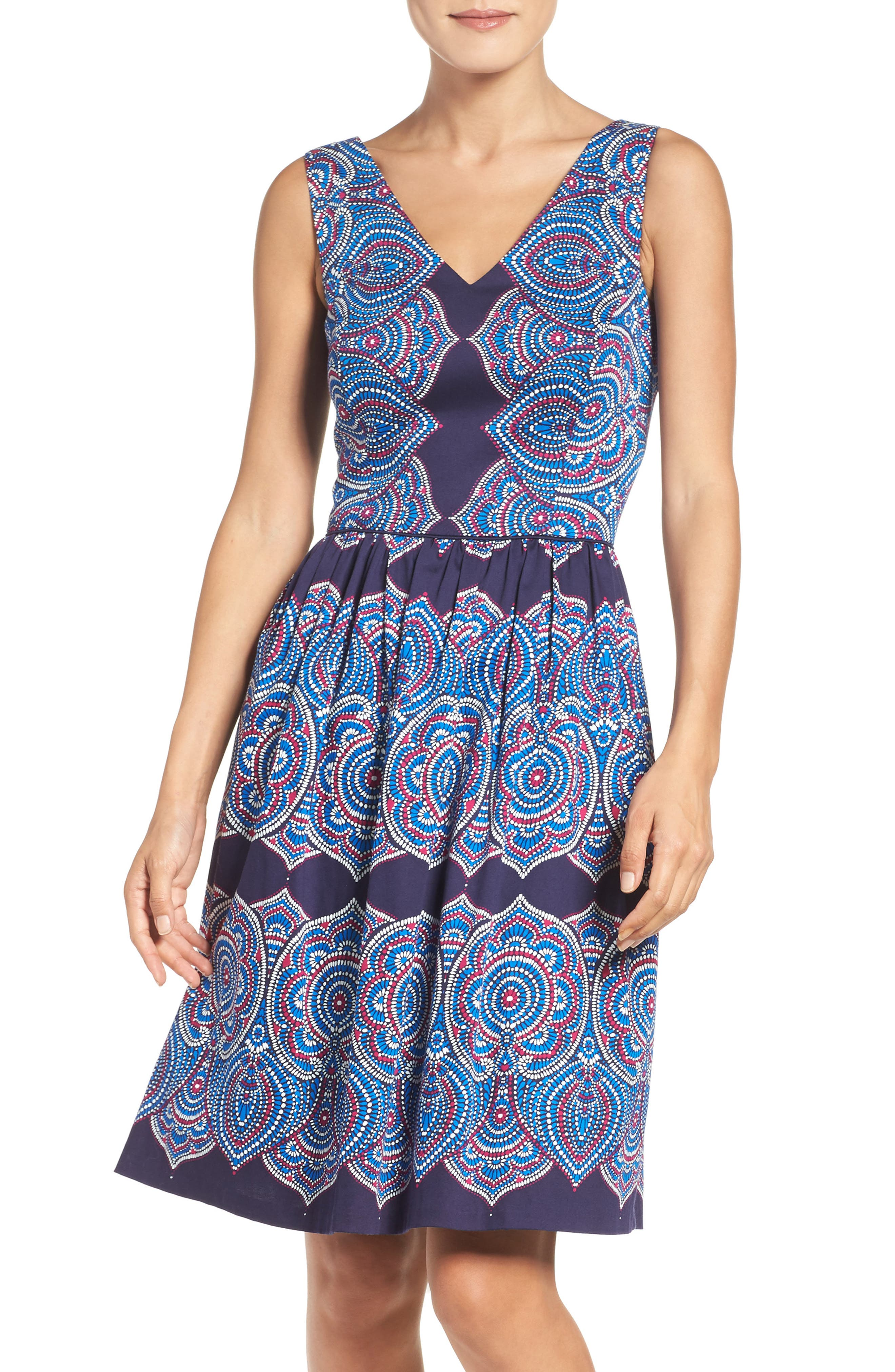 Alternate Image 1 Selected - Maggy London Print Fit & Flare Dress