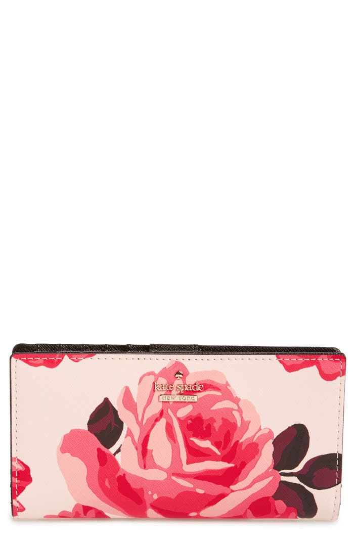 Kate Spade New York Cameron Street Roses Stacy Wallet