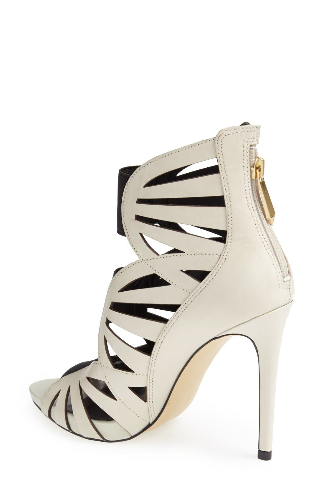 Alternate Image 2  - GUESS 'Aela' Leather Open Front Sandal (Women)