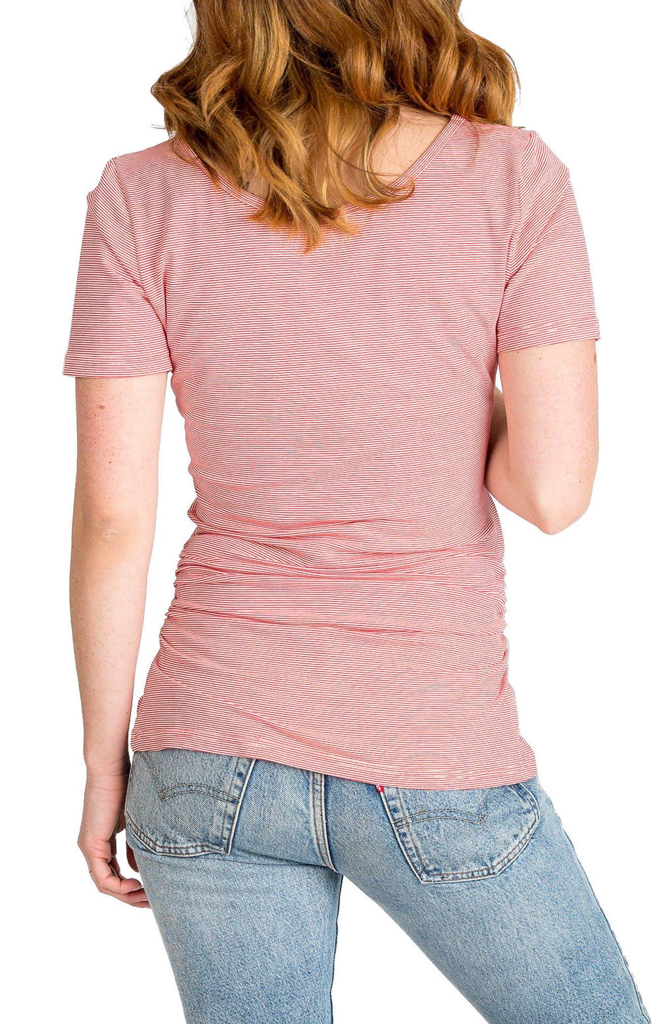 Alternate Image 2  - Nom Maternity 'Tate' Stripe Maternity Top