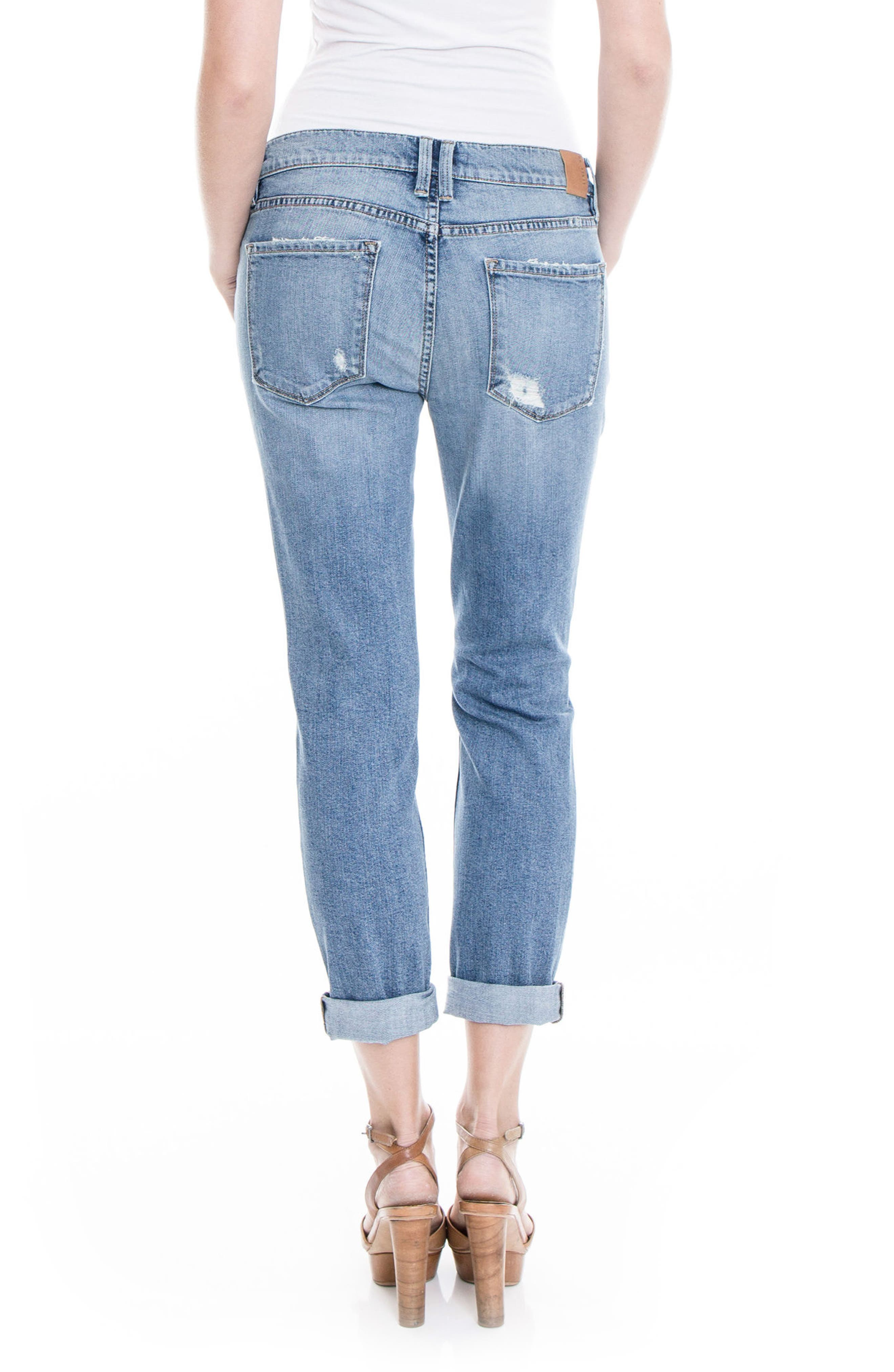 Alternate Image 2  - Level 99 Sienna Stretch Distressed Ankle Cuff Jeans