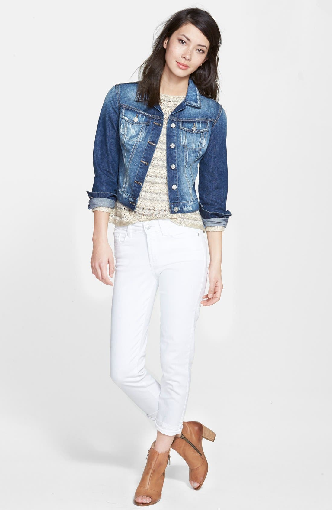 Alternate Image 4  - Jessica Simpson 'Pixie' Denim Jacket