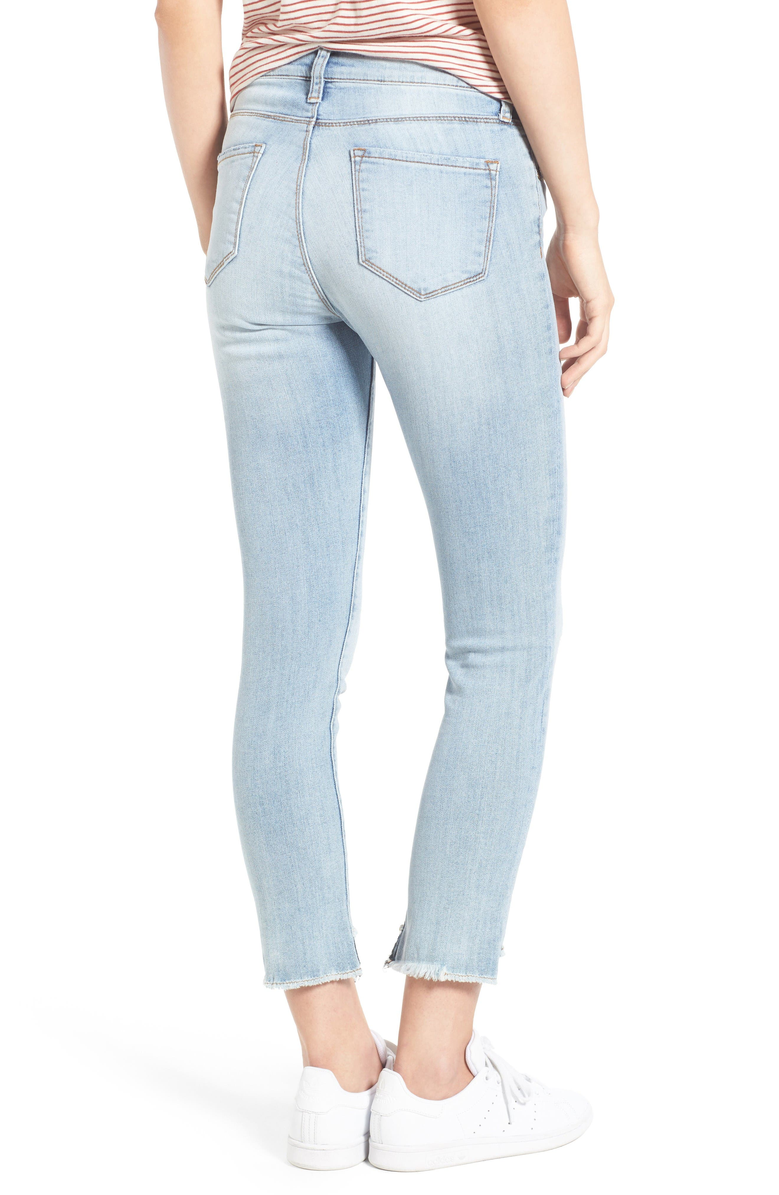 Alternate Image 2  - Kut from the Kloth Reese Uneven Hem Straight Ankle Jeans (Celebratory)
