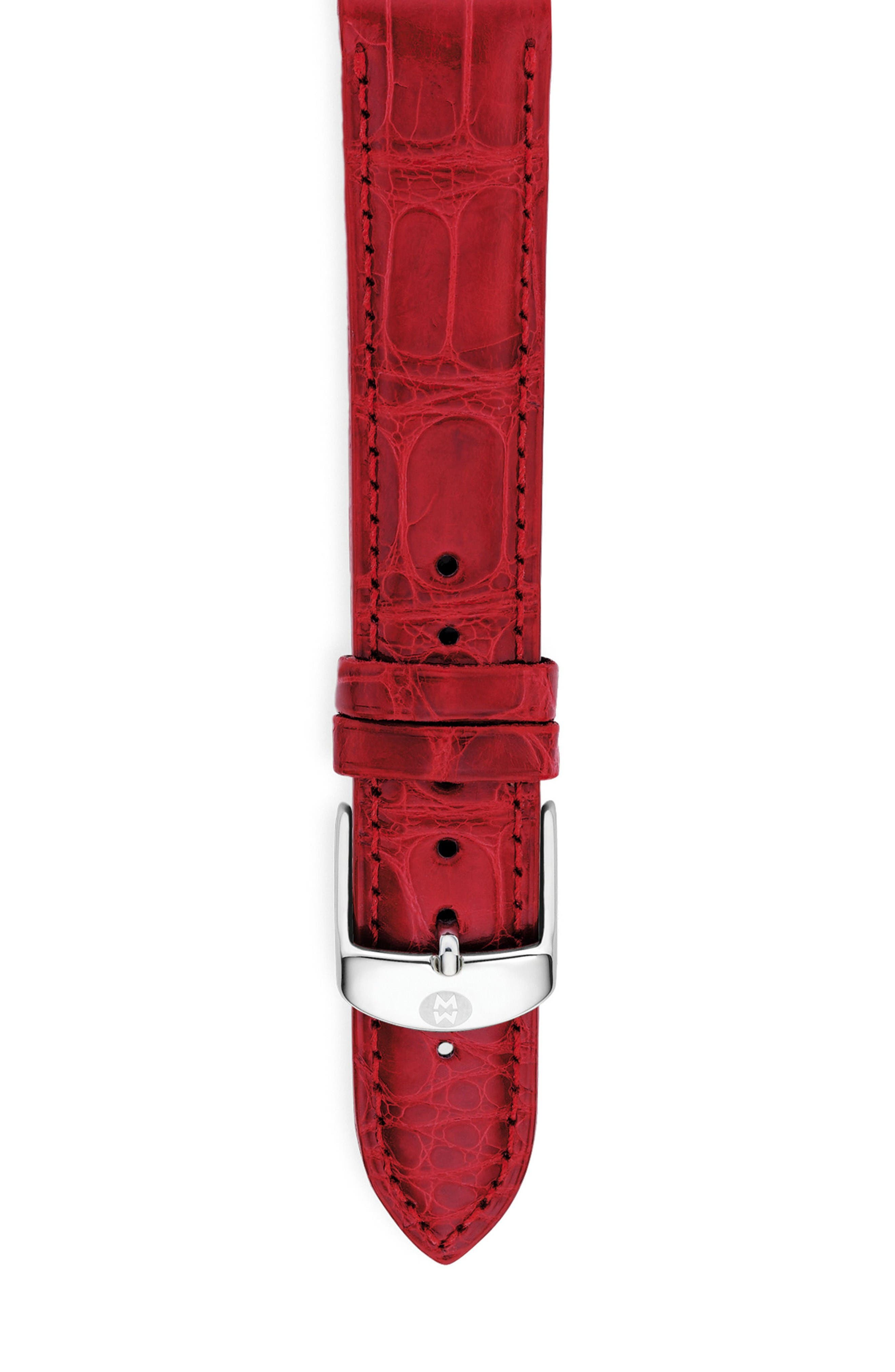 Alternate Image 1 Selected - MICHELE 20mm Alligator Watch Strap