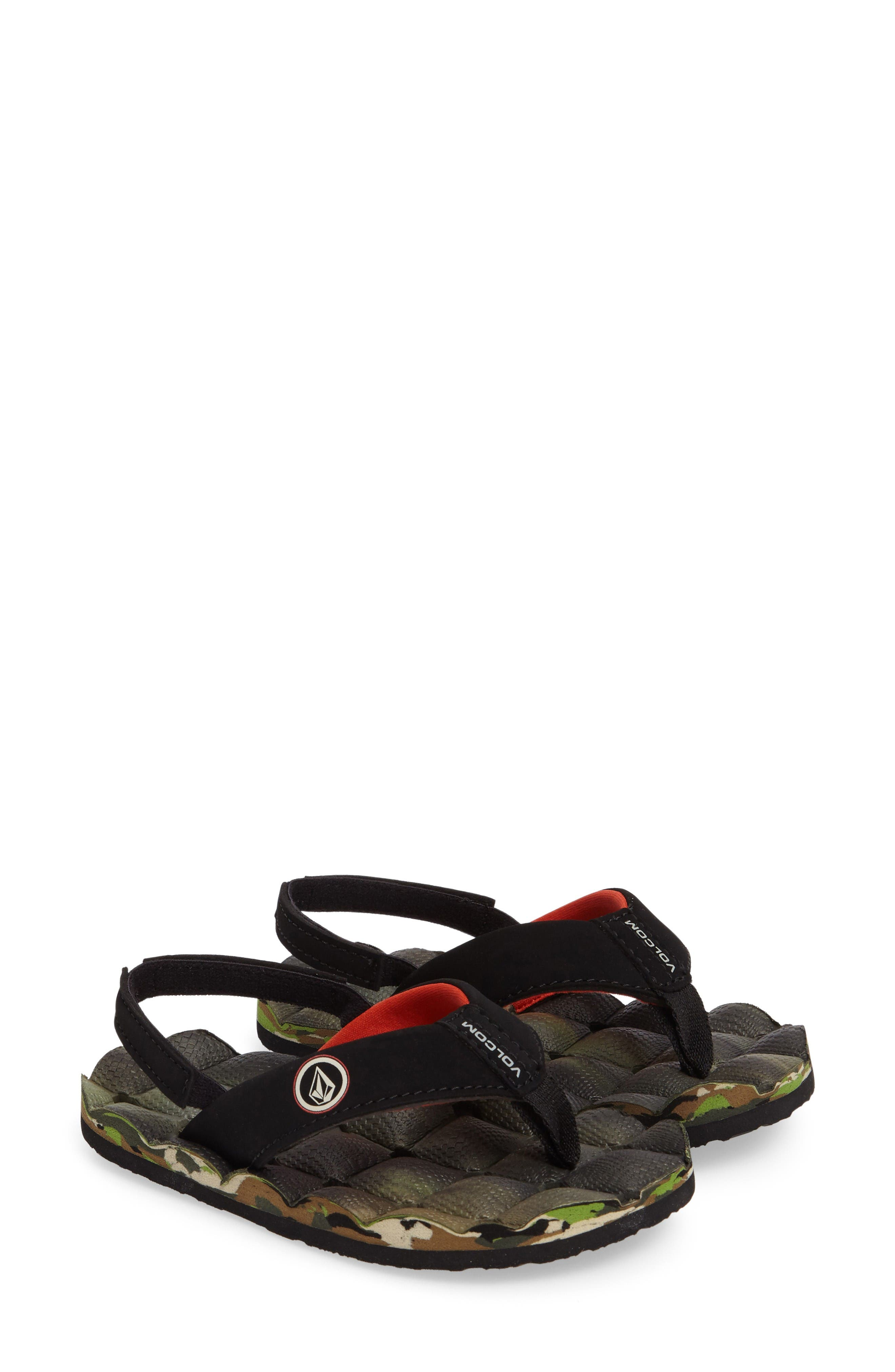 Volcom 'Recliner' Flip Flop (Little Kid & Big Kid)