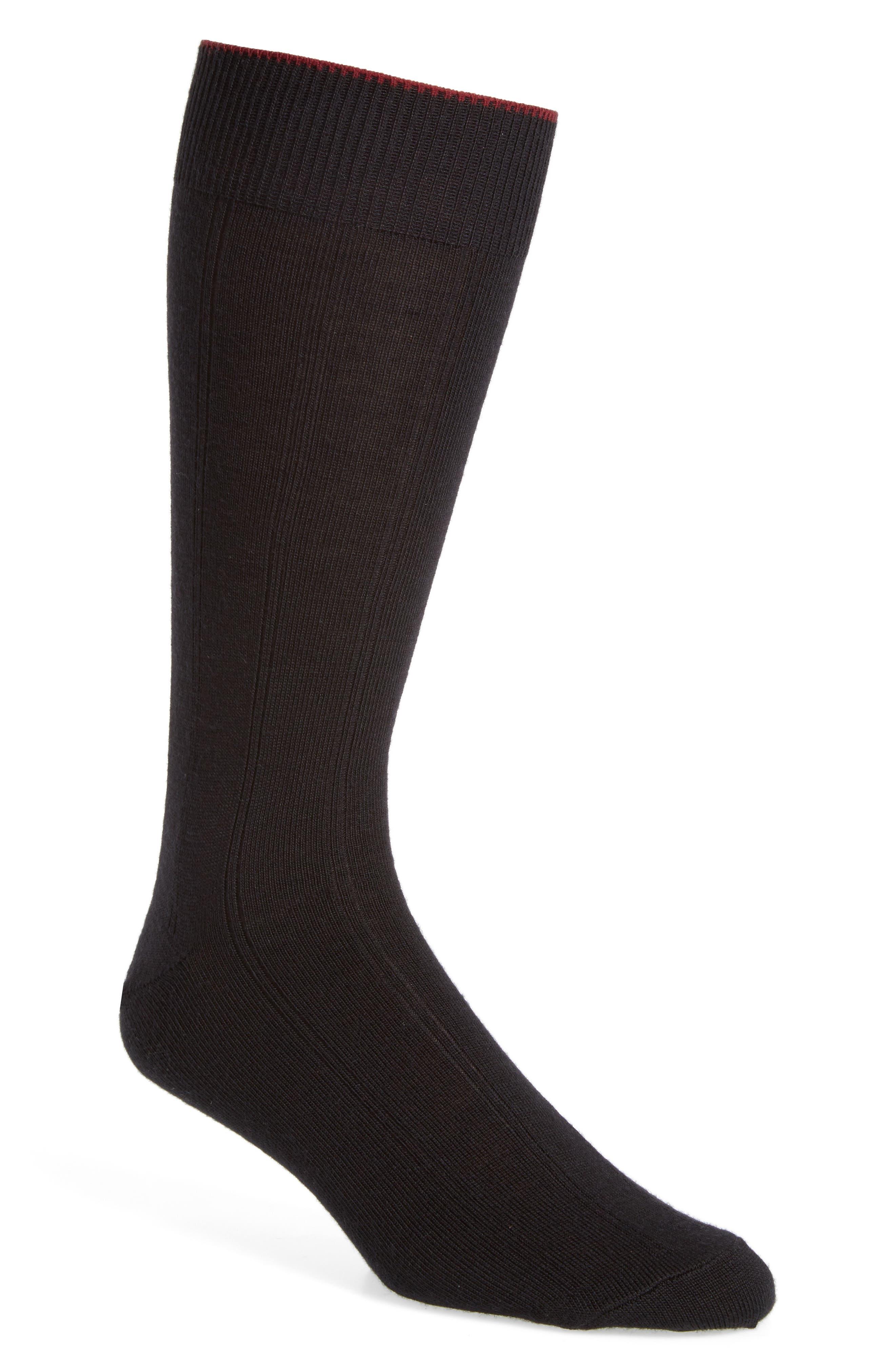 Alternate Image 1 Selected - Nordstrom Mens Shop Rib Wool Blend Socks (Men)