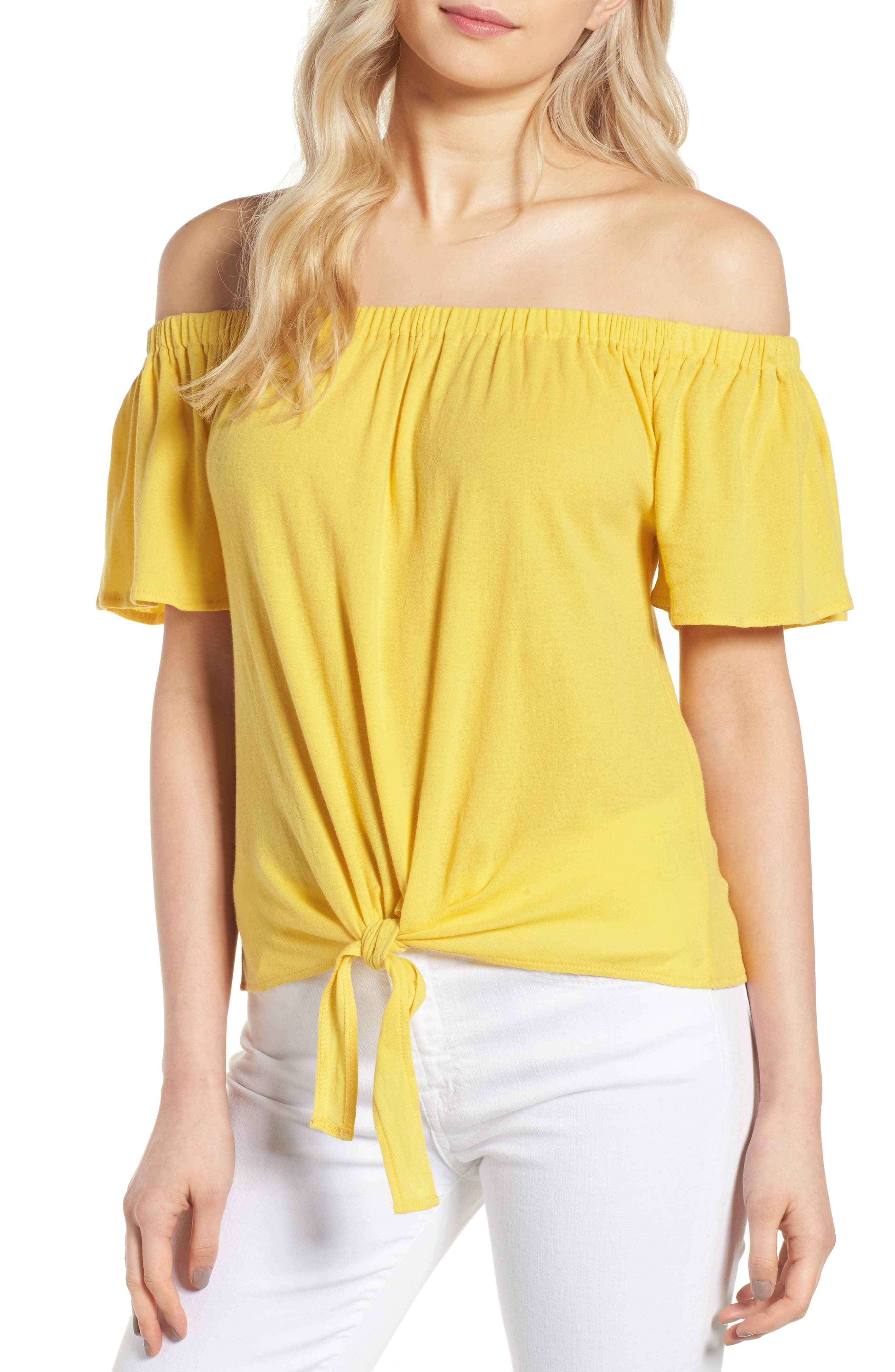 cupcakes and cashmere Kathie Off the Shoulder Top