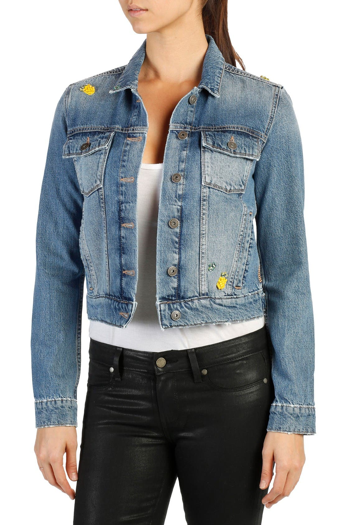 PAIGE Wylder Embellished Denim Jacket