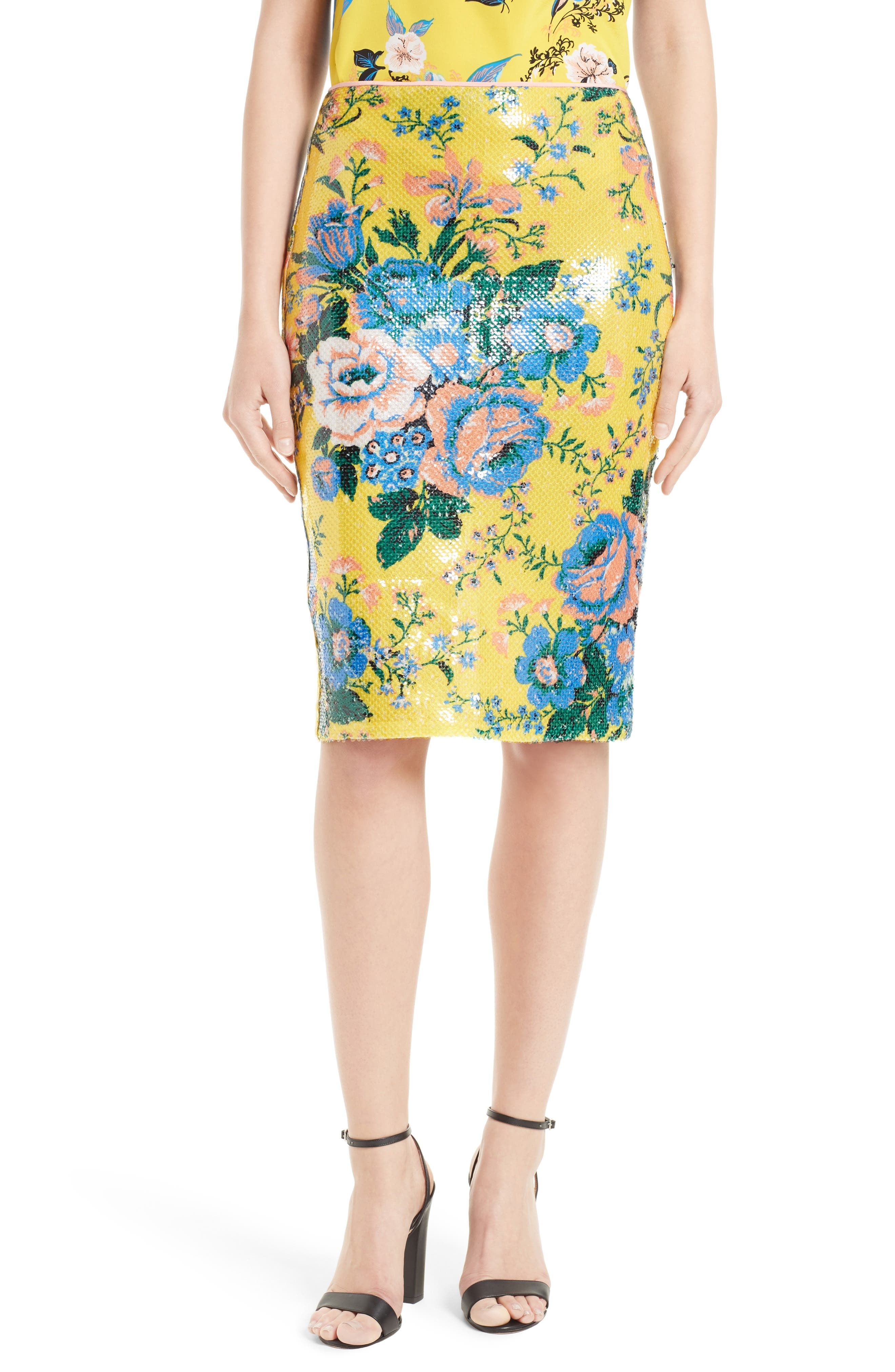 Diane von Furstenberg Floral Pencil Skirt