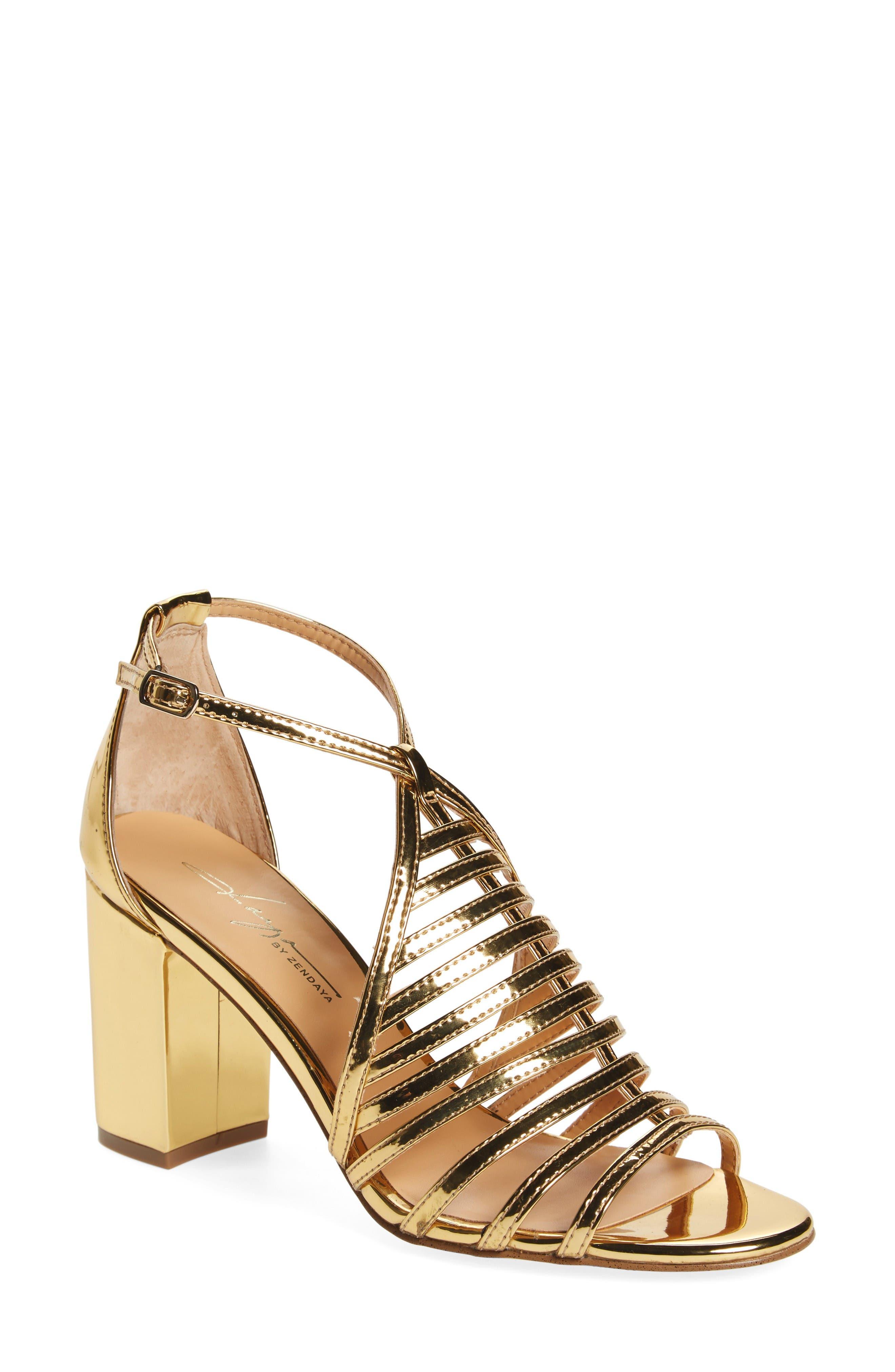 Alternate Image 1 Selected - Daya by Zendaya Soda Block Heel Sandal (Women)