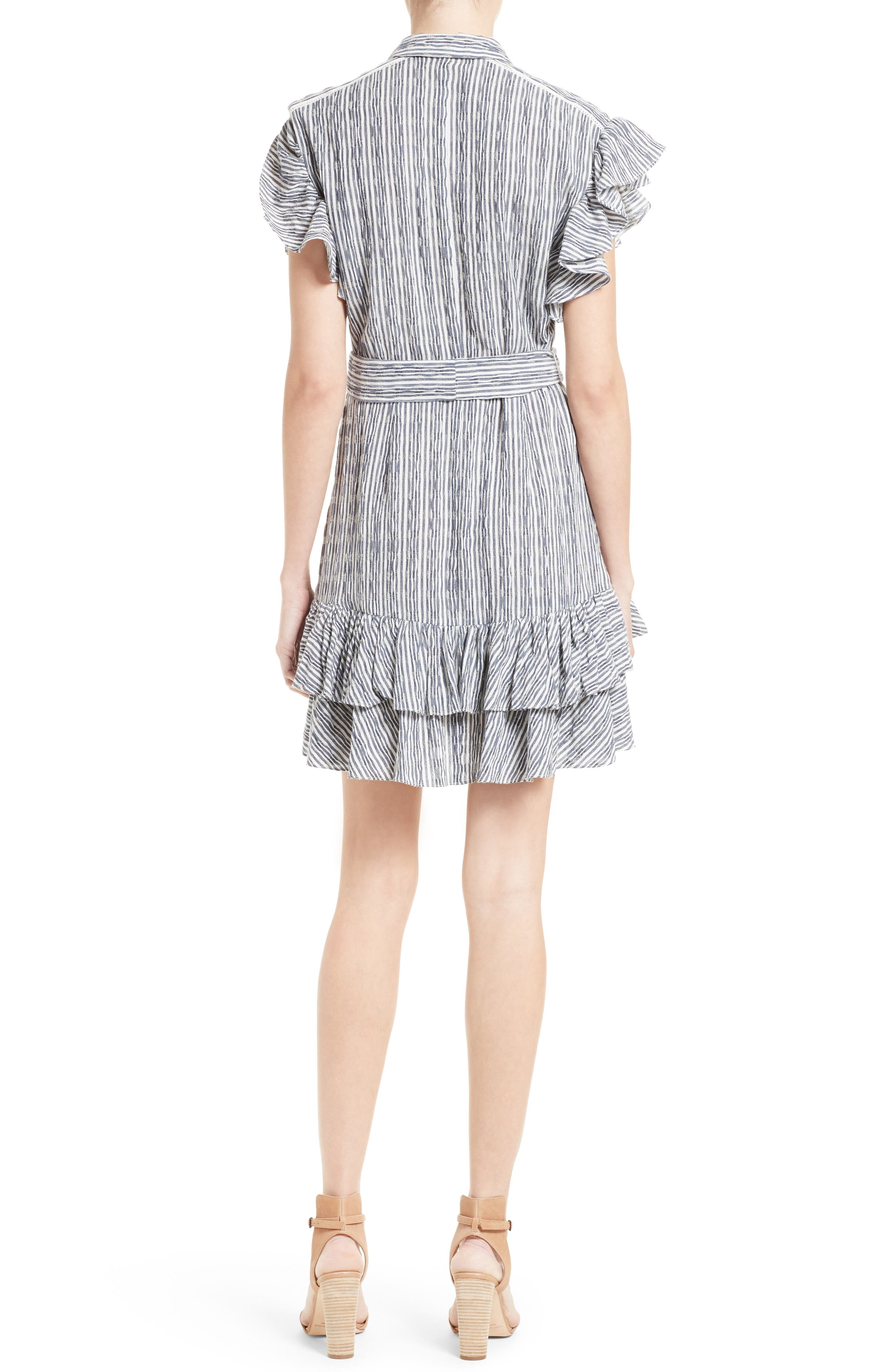 Alternate Image 2  - Rebecca Taylor Stripe Shirtdress