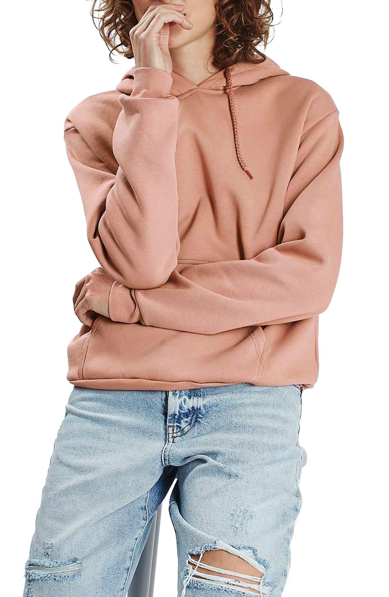 Alternate Image 1 Selected - Topshop Oversize Hoodie (Regular & Petite)