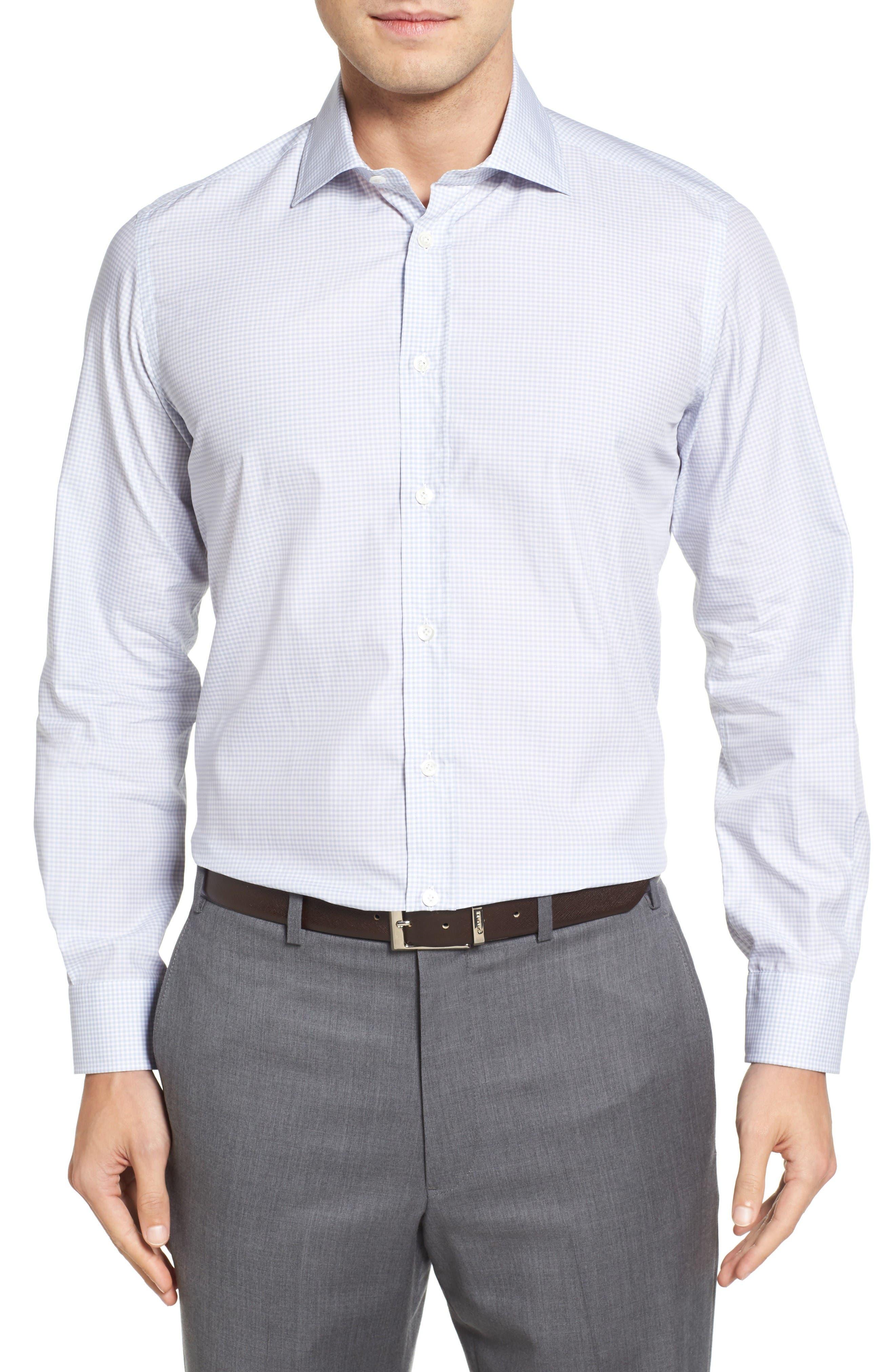 LUCIANO BARBERA Microcheck Sport Shirt
