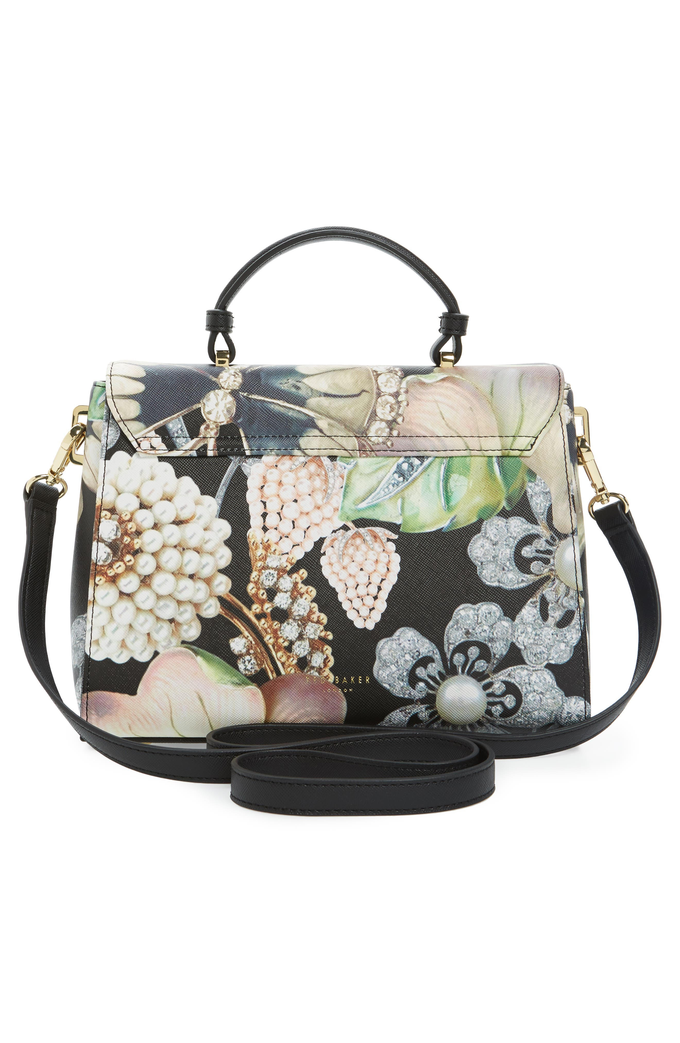Alternate Image 2  - Ted Baker London Small Gem Gardens Faux Leather Top Handle Satchel