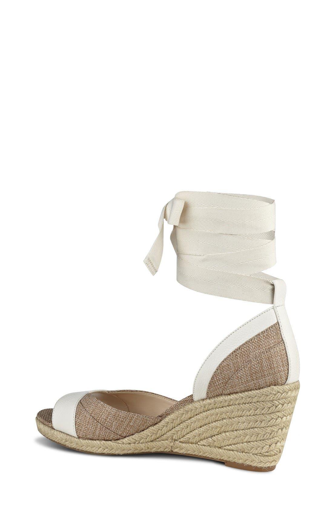 Alternate Image 2  - Nine West Jaxel Ankle Tie Wedge Sandal (Women)