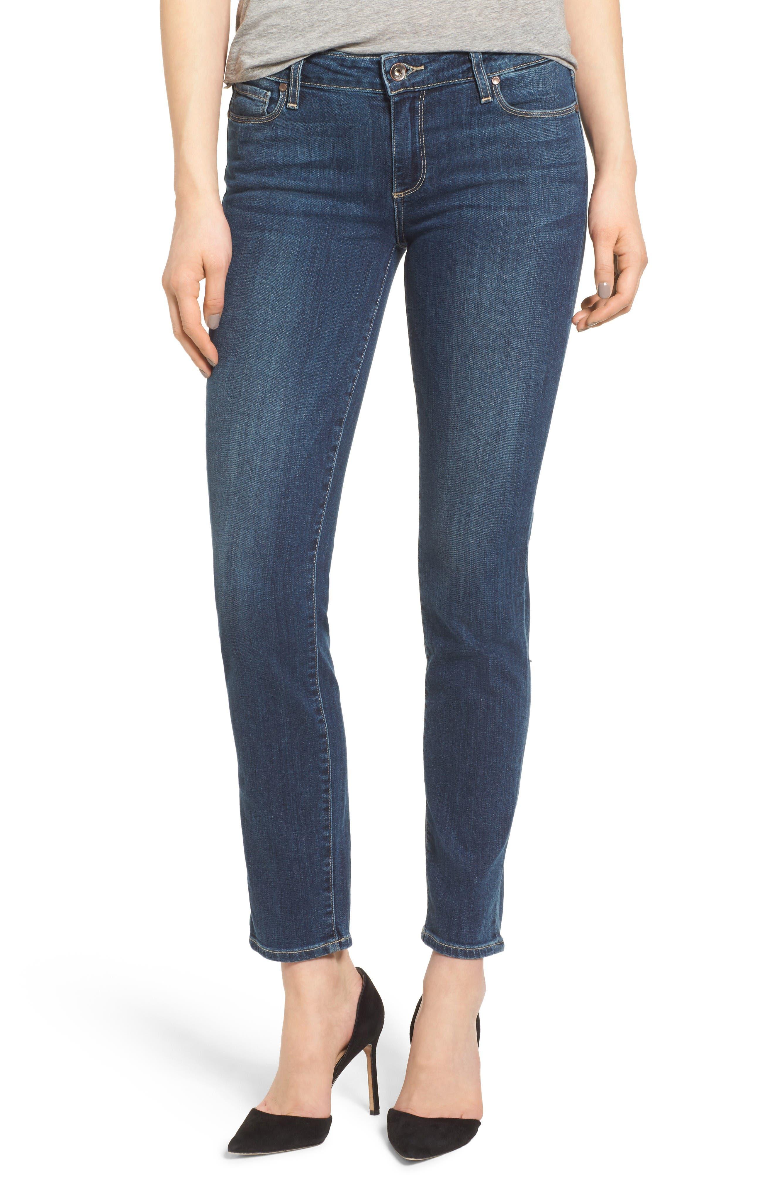 PAIGE Legacy - Skyline Ankle Peg Skinny Jeans (Sandy)
