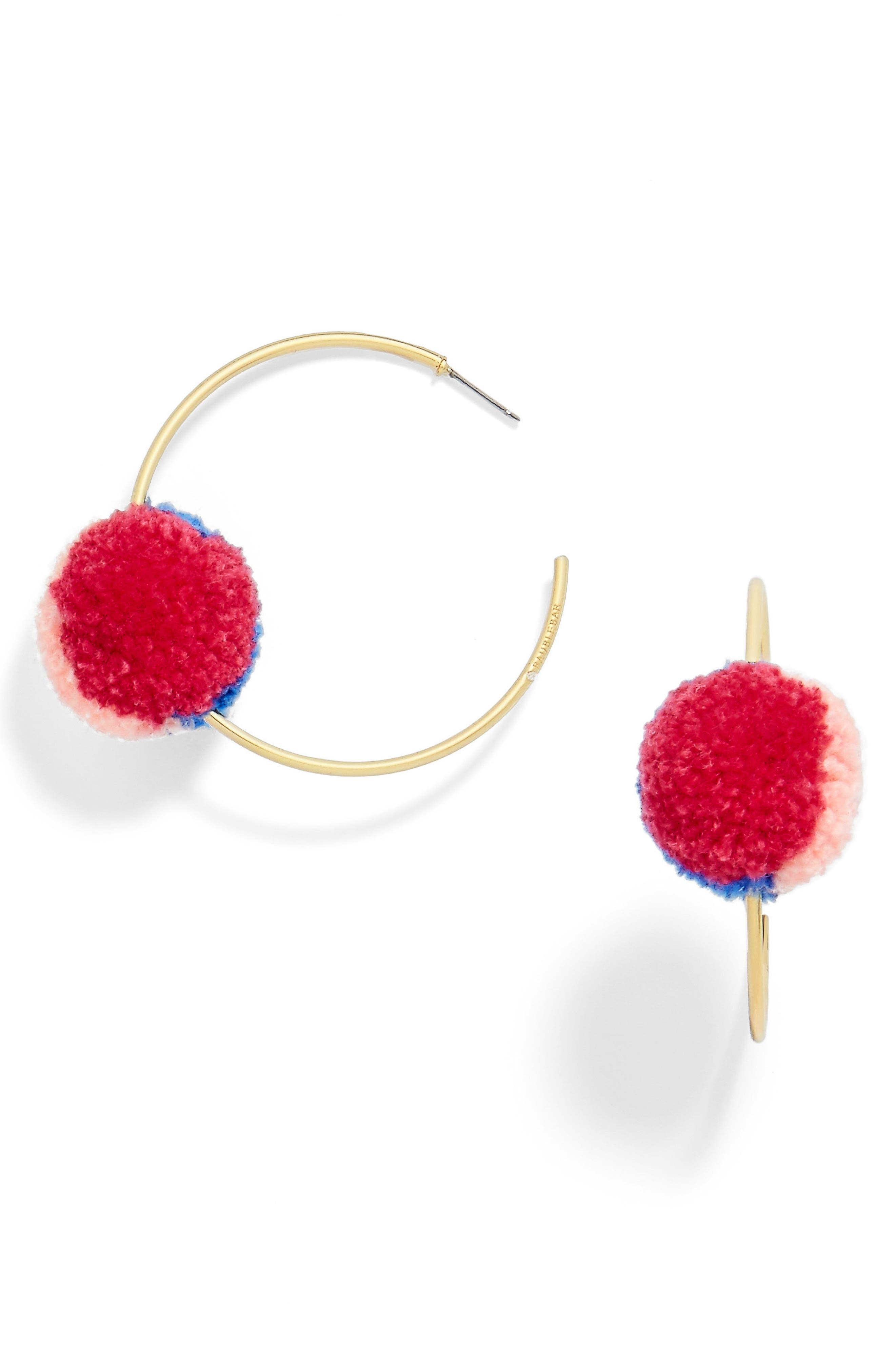 Alternate Image 1 Selected - BaubleBar Antigua Pompom Earrings