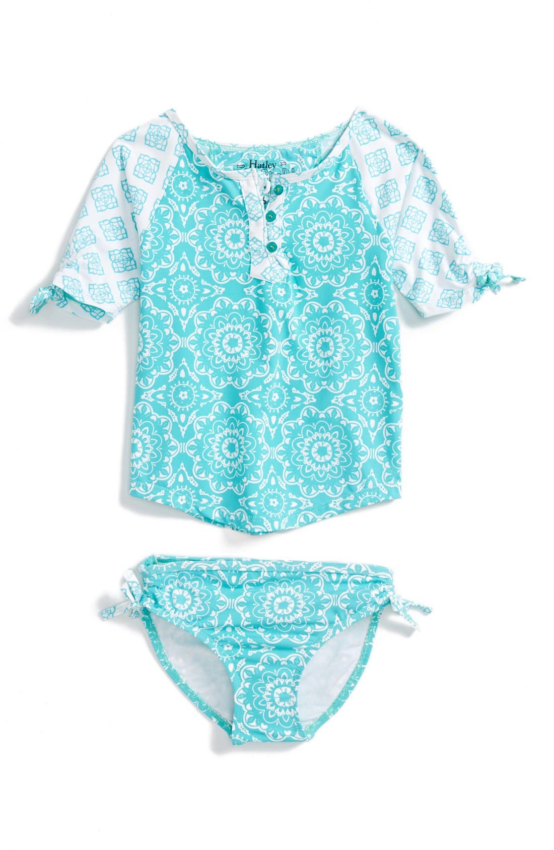 HATLEY Tile Mandala Two-Piece Rashguard Swimsuit
