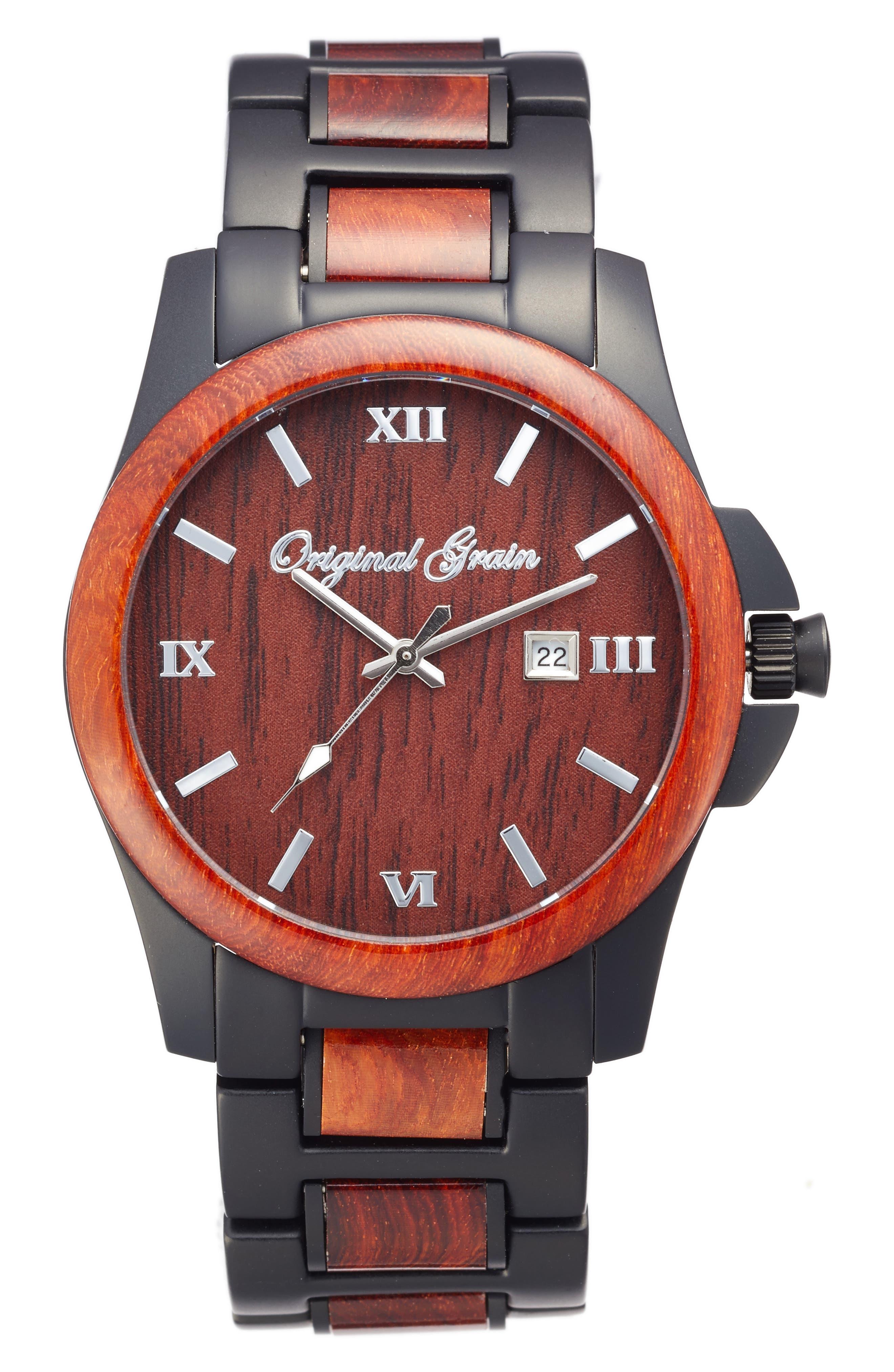Original Grain The Classic Bracelet Watch, 43mm