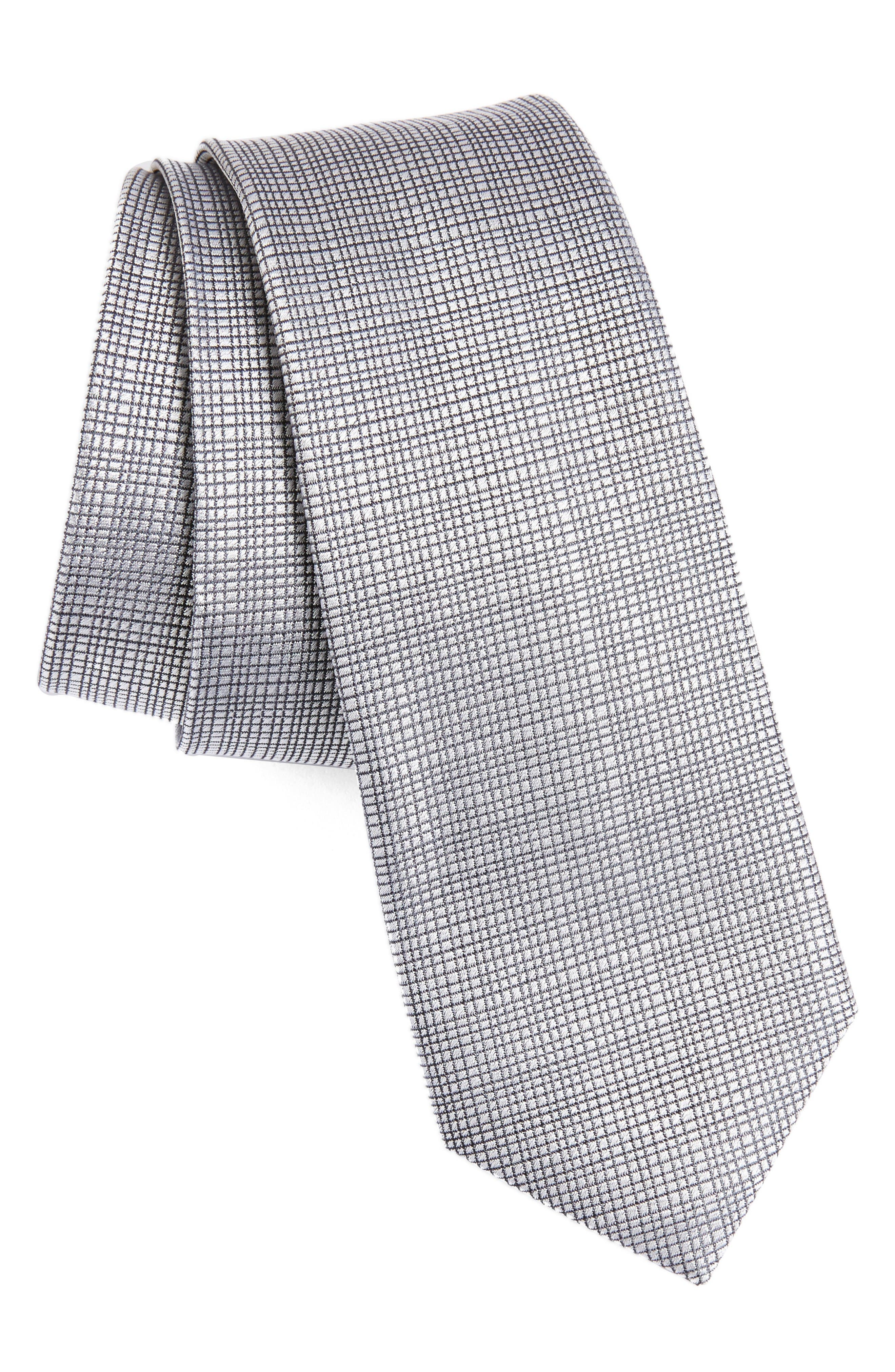 Calibrate Saffron Solid Silk Skinny Tie