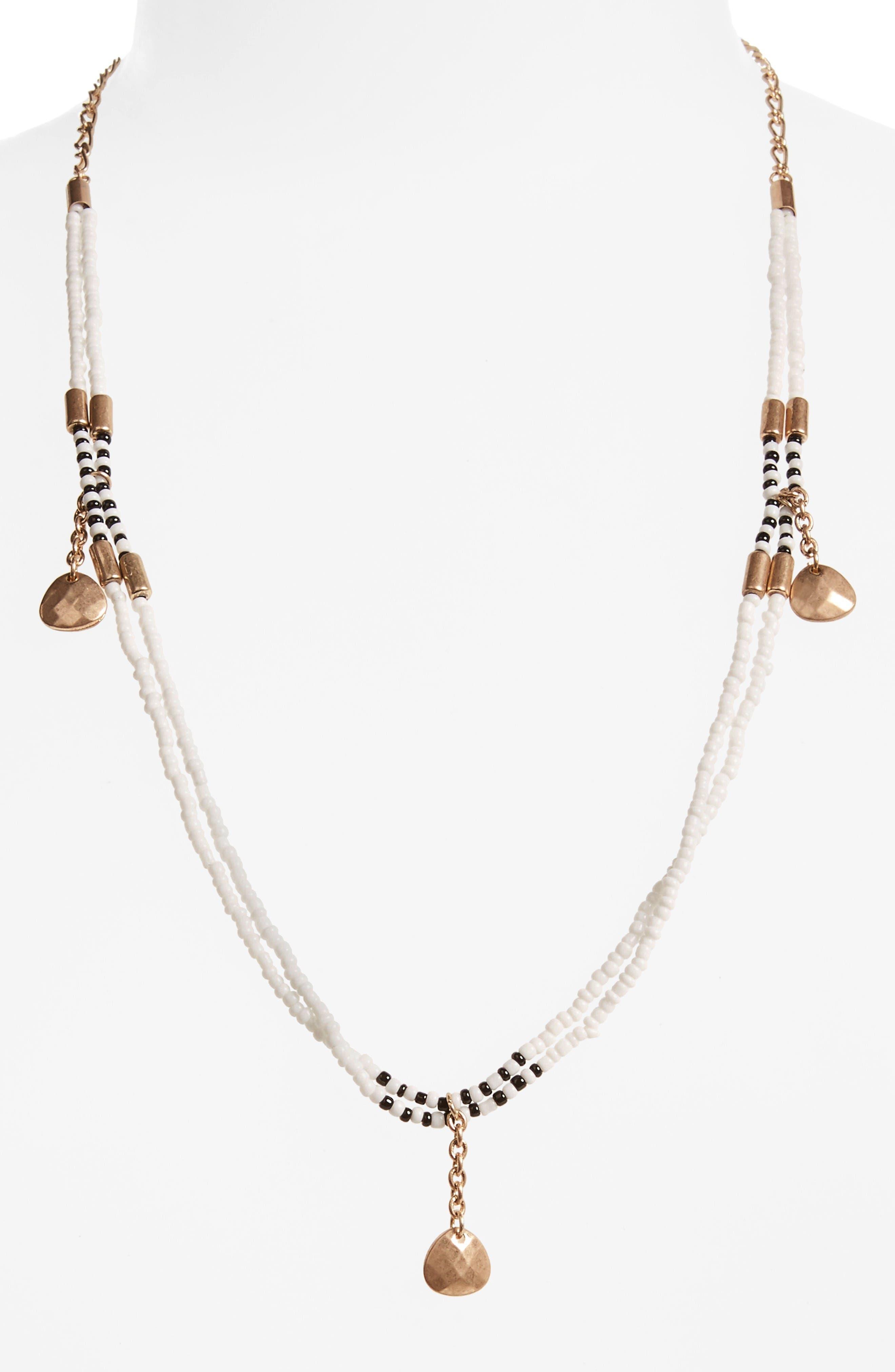 Treasure & Bond Beaded Pendant Necklace