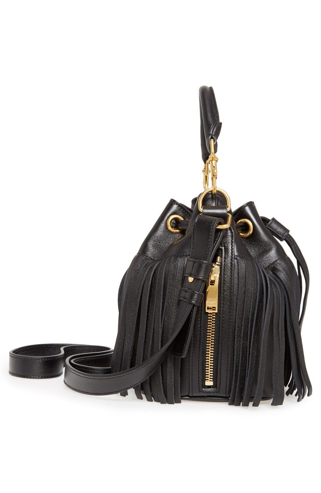 Alternate Image 4  - Saint Laurent Fringe Calfskin Bucket Bag