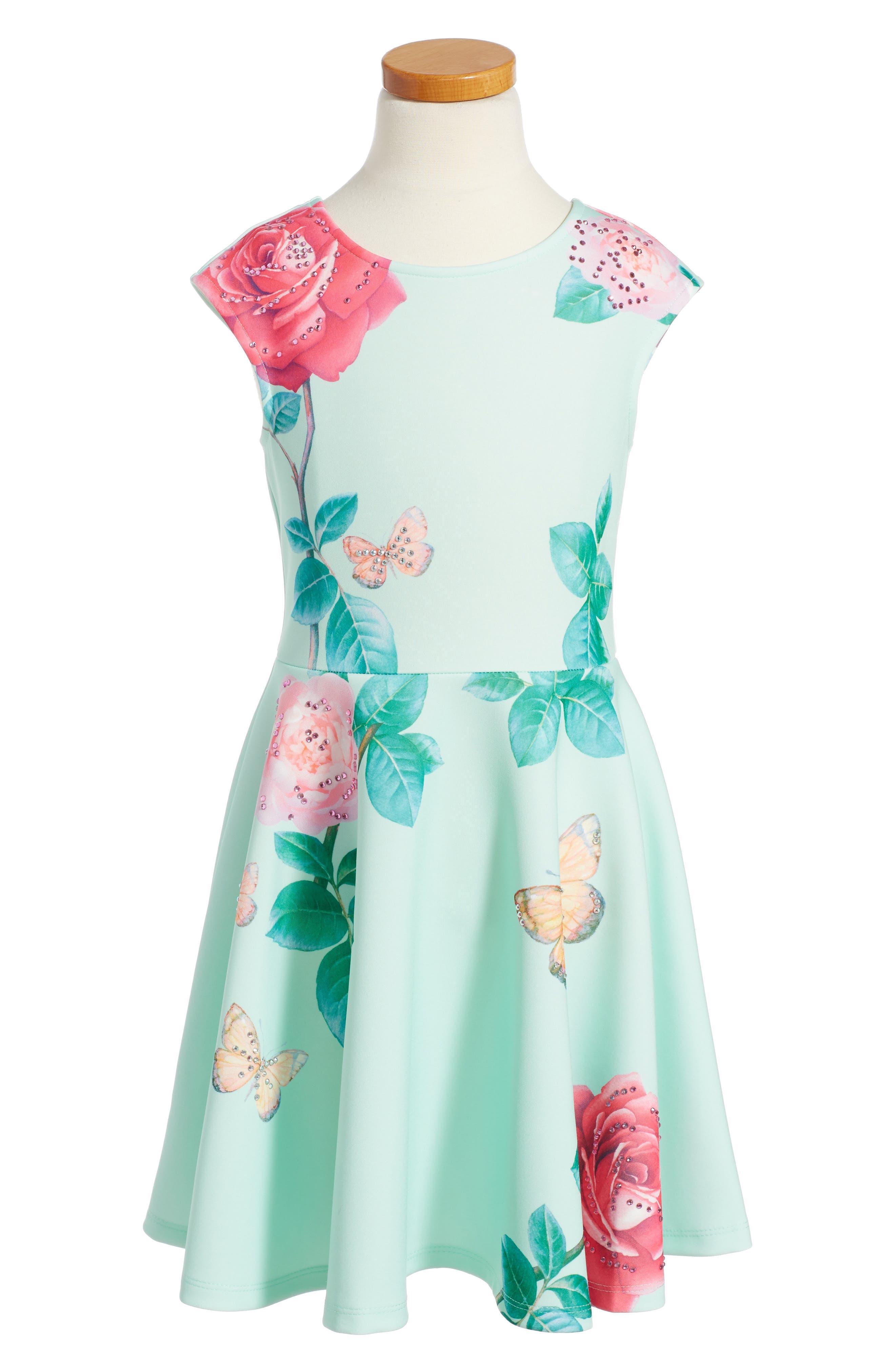 Hannah Banana Floral Scuba Dress (Toddler Girls, Little Girls & Big Girls)