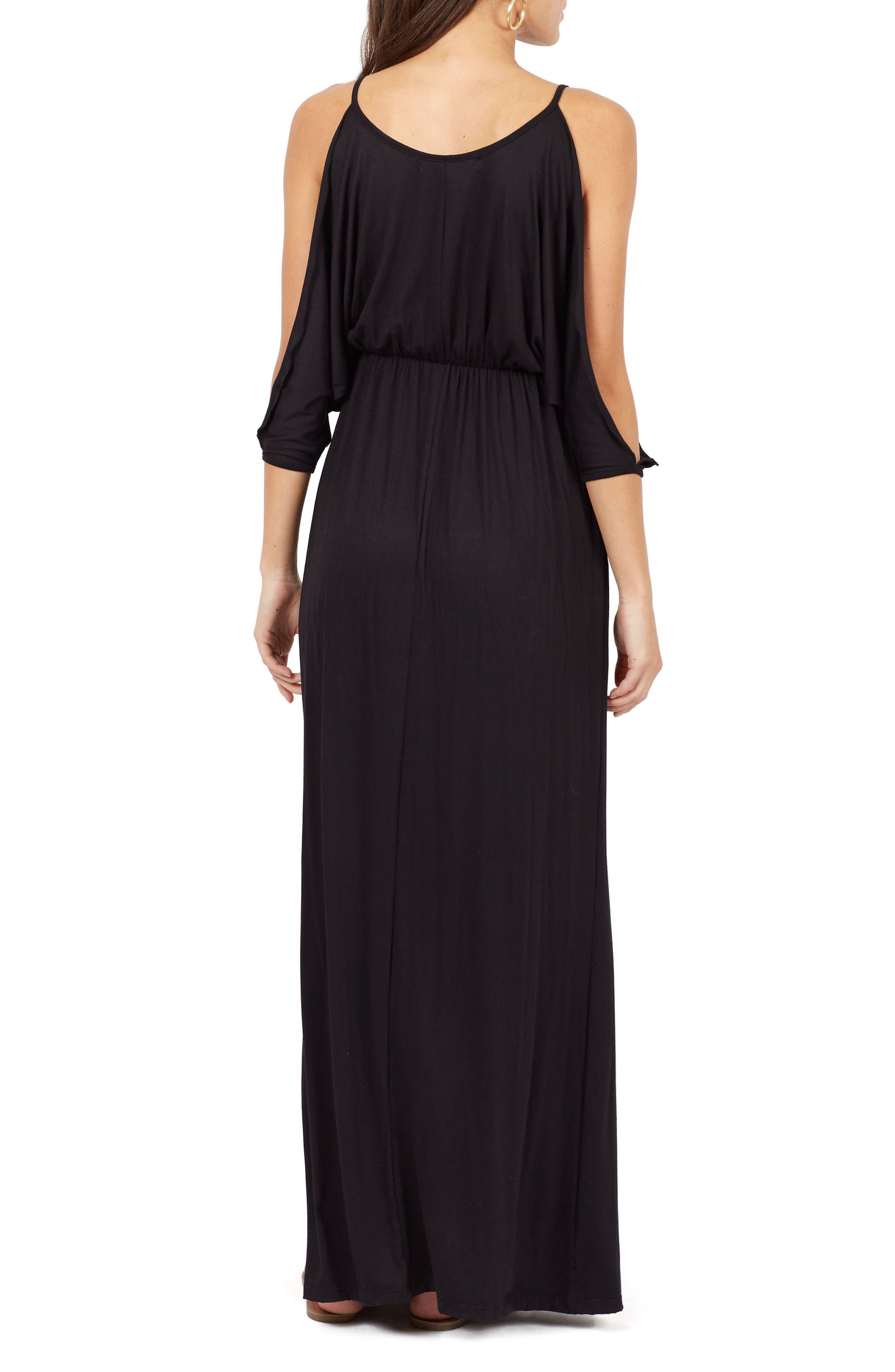 Alternate Image 2  - Delacy Nia Cold Shoulder Maxi Dress