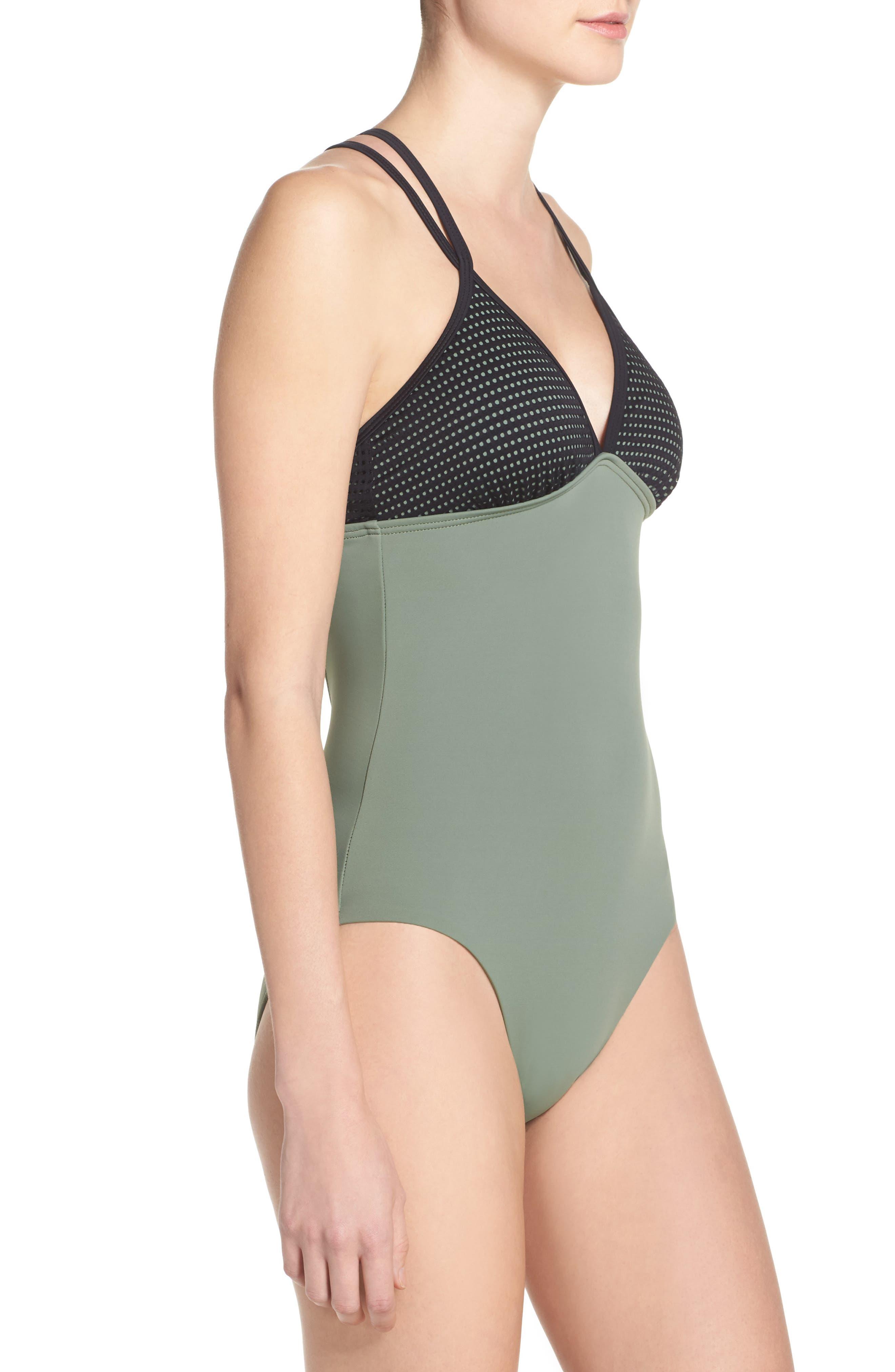 Alternate Image 3  - Zella Colorblock One-Piece Swimsuit