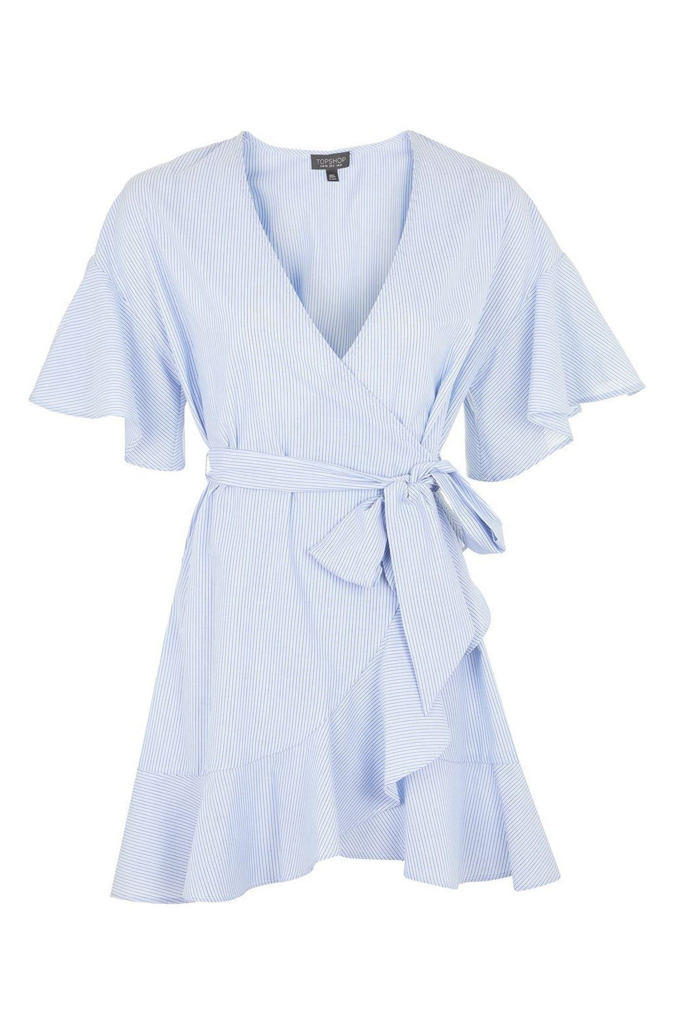 Alternate Image 4  - Topshop Stripe Wrap Dress