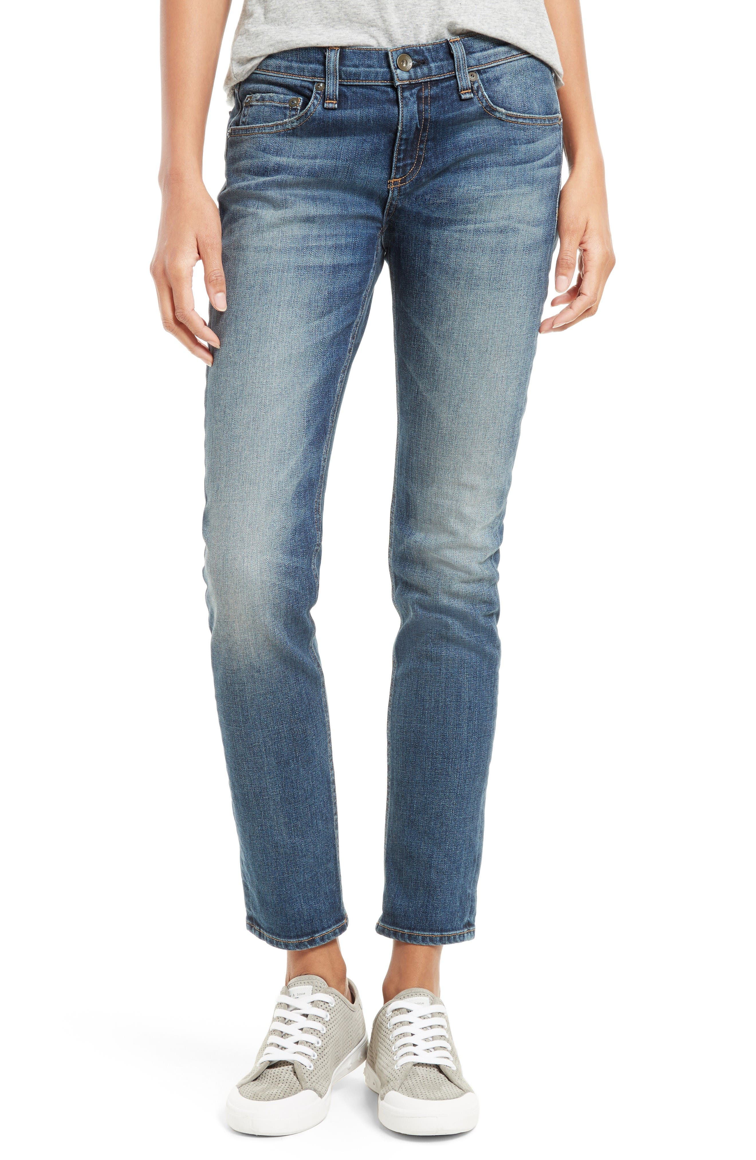 Alternate Image 1 Selected - rag & bone/JEAN The Dre Slim Boyfriend Jeans (Bard)