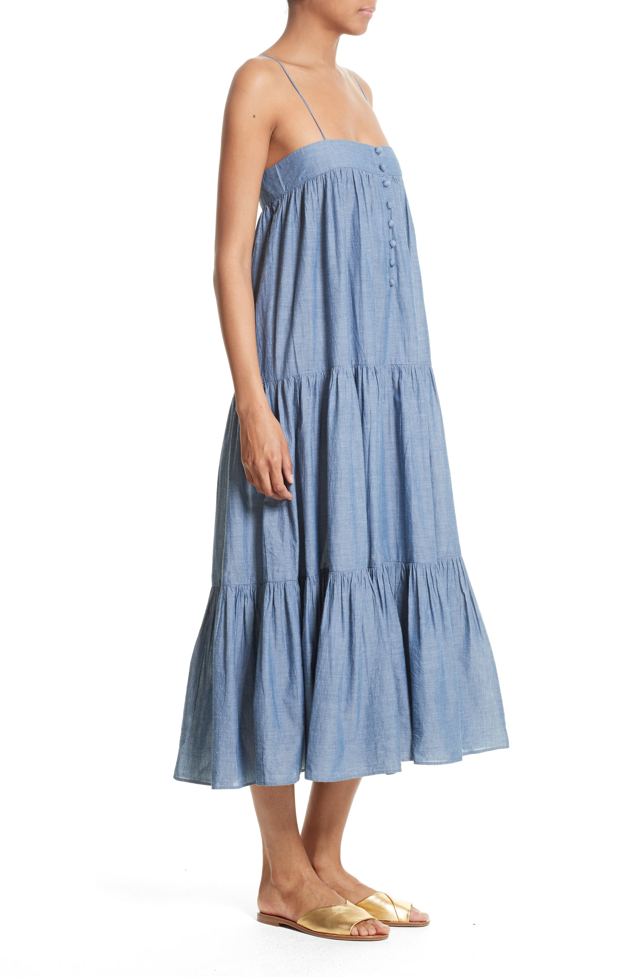 Alternate Image 3  - Apiece Apart Tangiers Chambray Dress