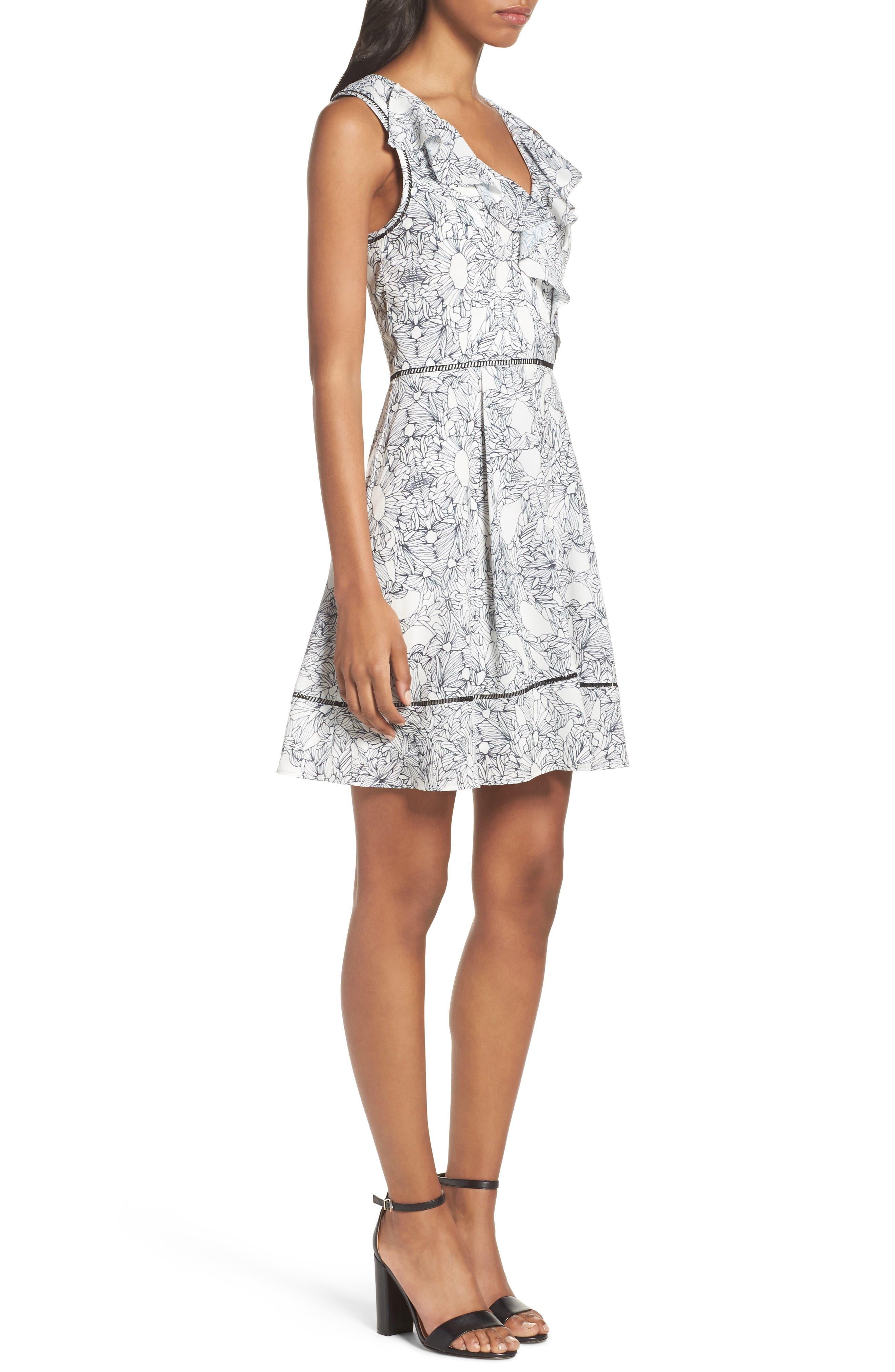 Alternate Image 3  - Adelyn Rae Ruffle Fit & Flare Dress