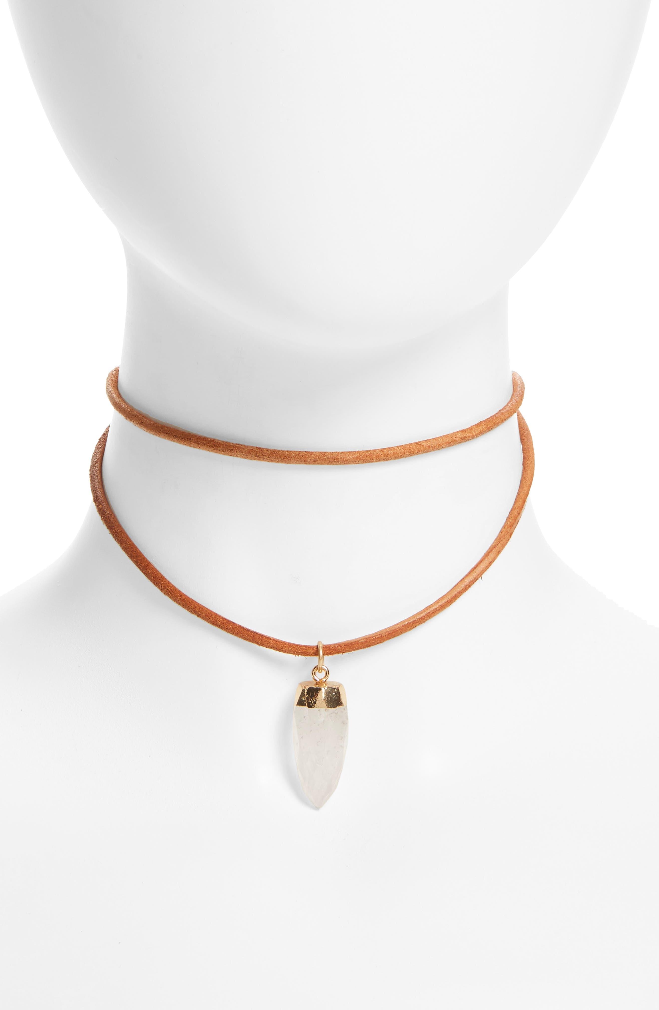 Panacea Drop Layered Choker Necklace