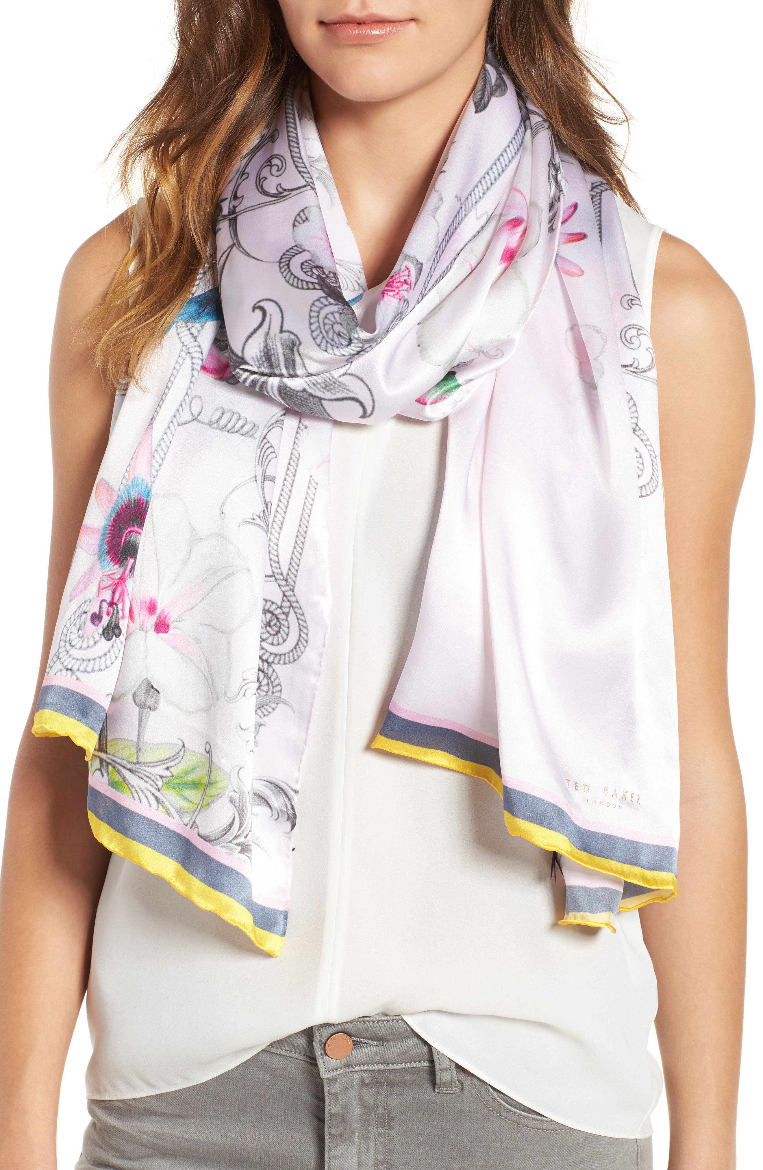 Ted Baker London Passion Flower Silk Scarf