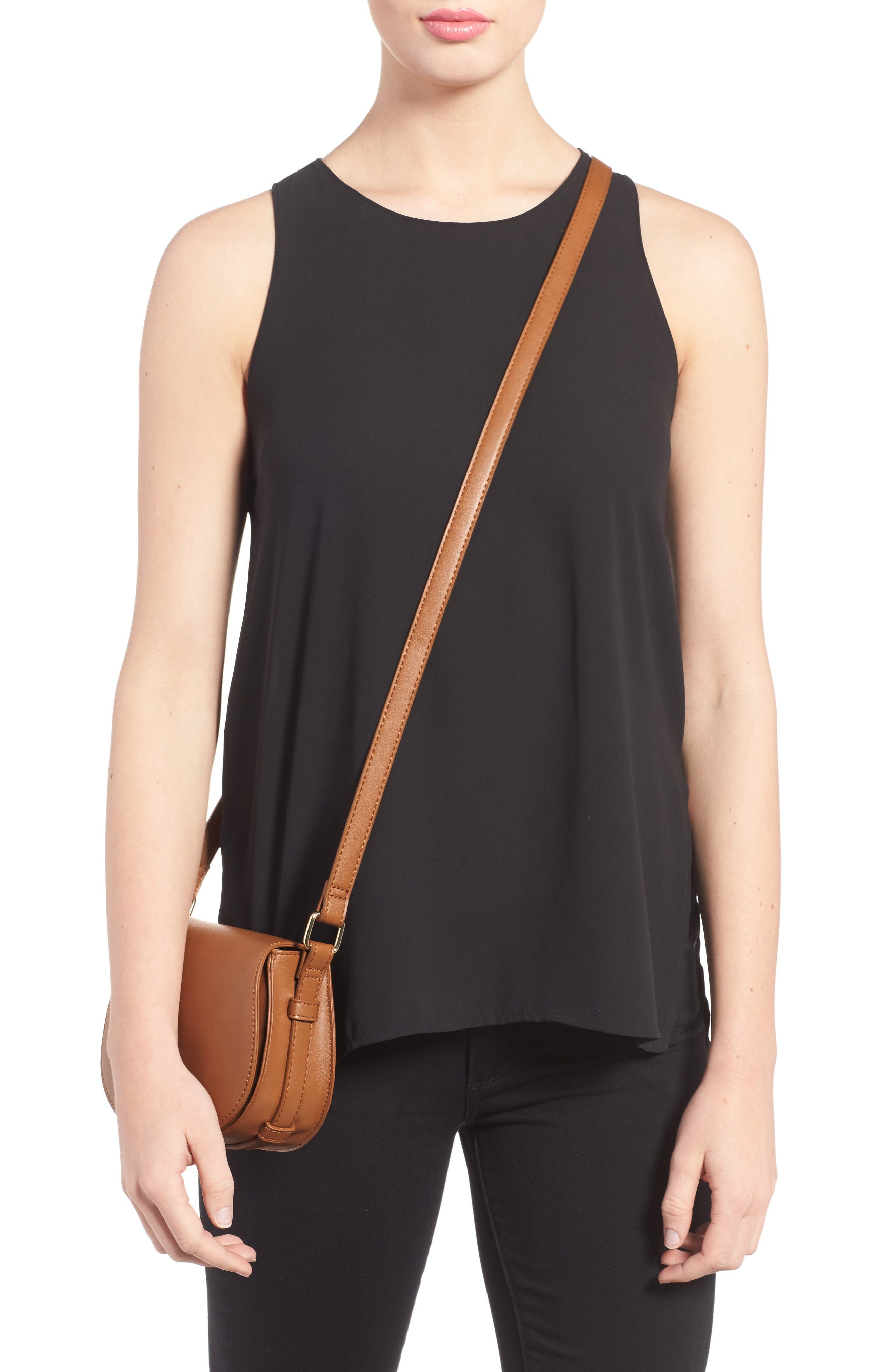 Alternate Image 2  - BP. Faux Leather Small Saddle Crossbody Bag