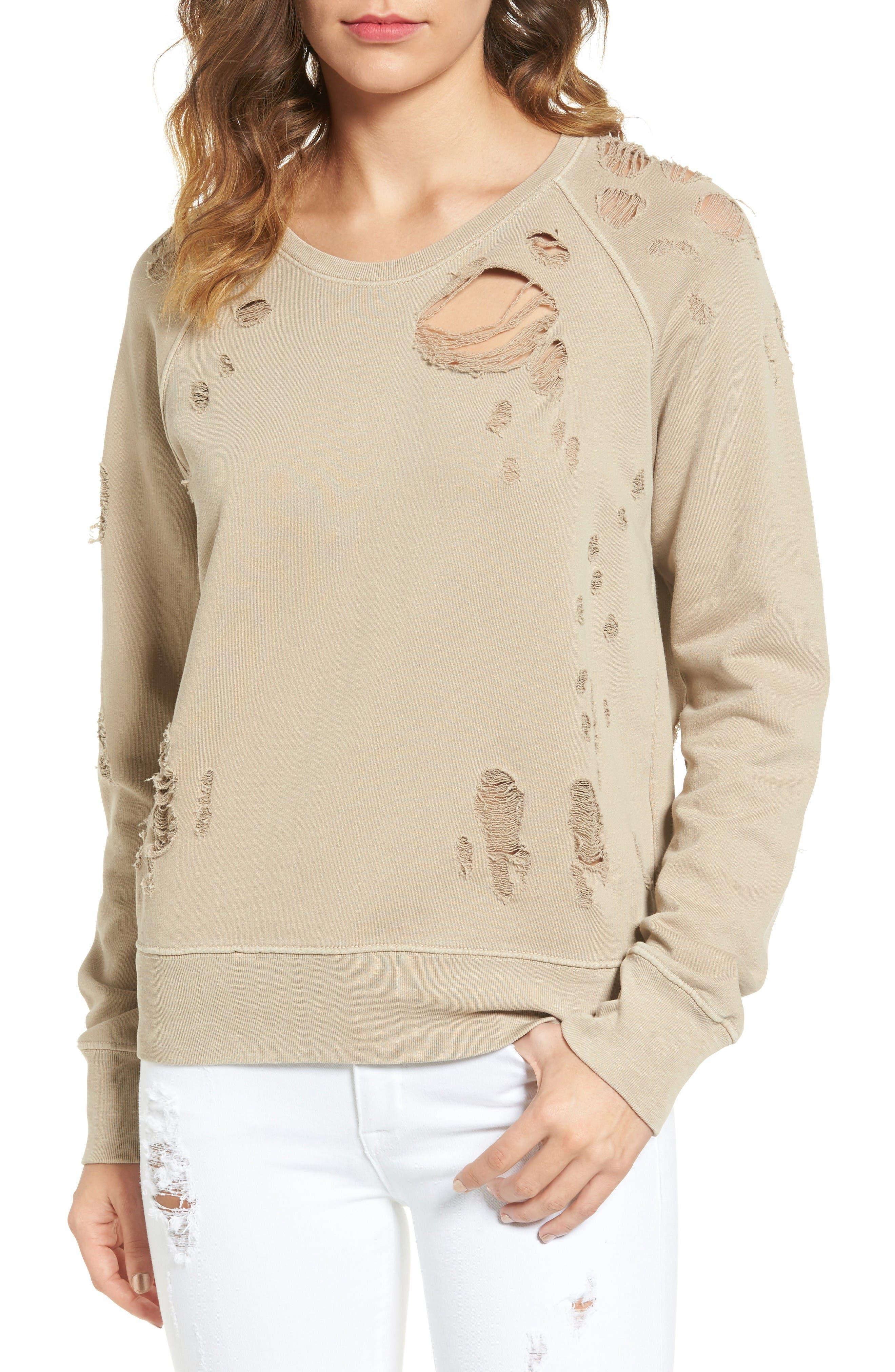 Sincerely Jules Destroyed Cotton Sweatshirt
