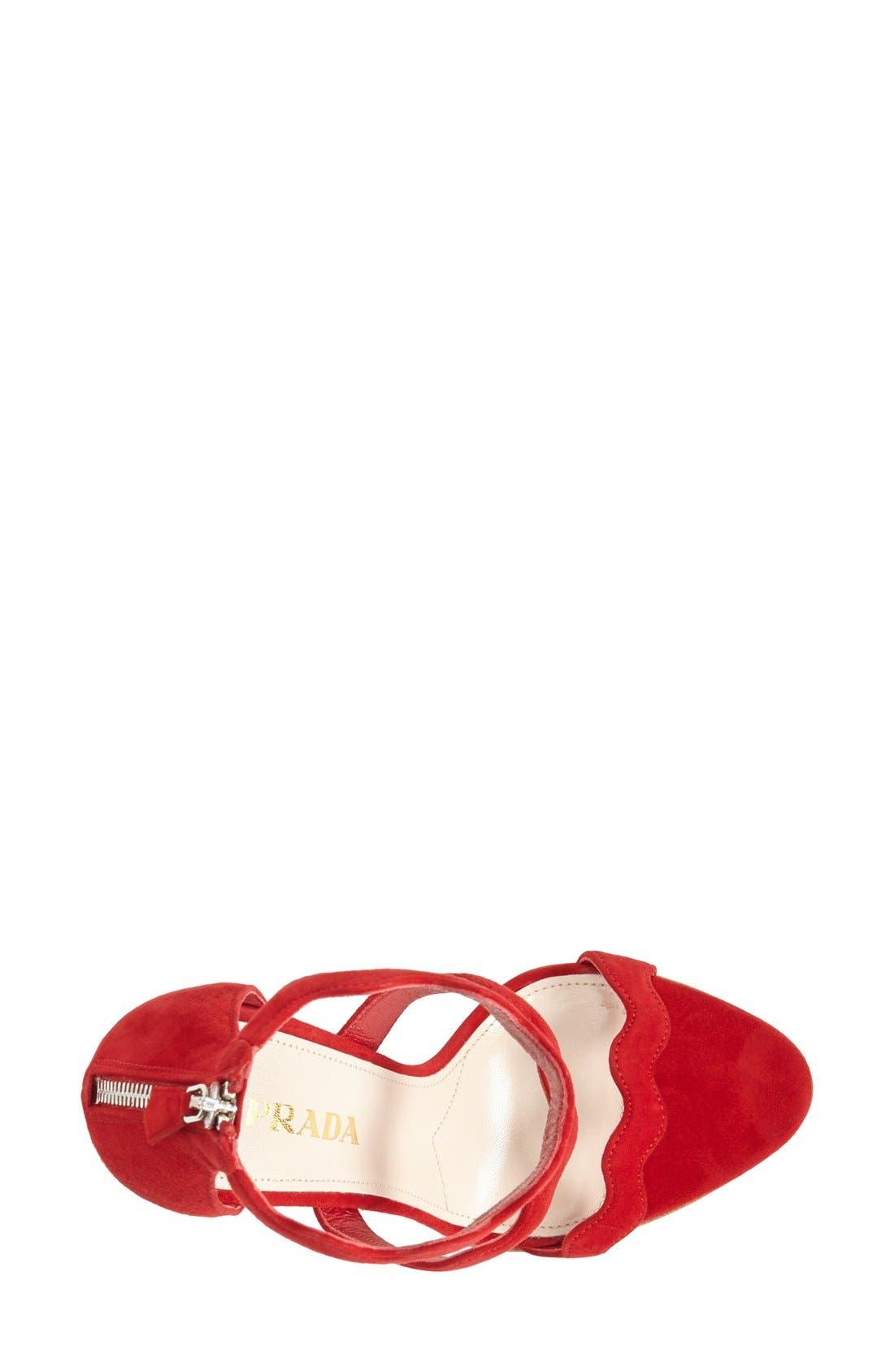 Alternate Image 3  - Prada Suede Ankle Strap Sandal (Women)