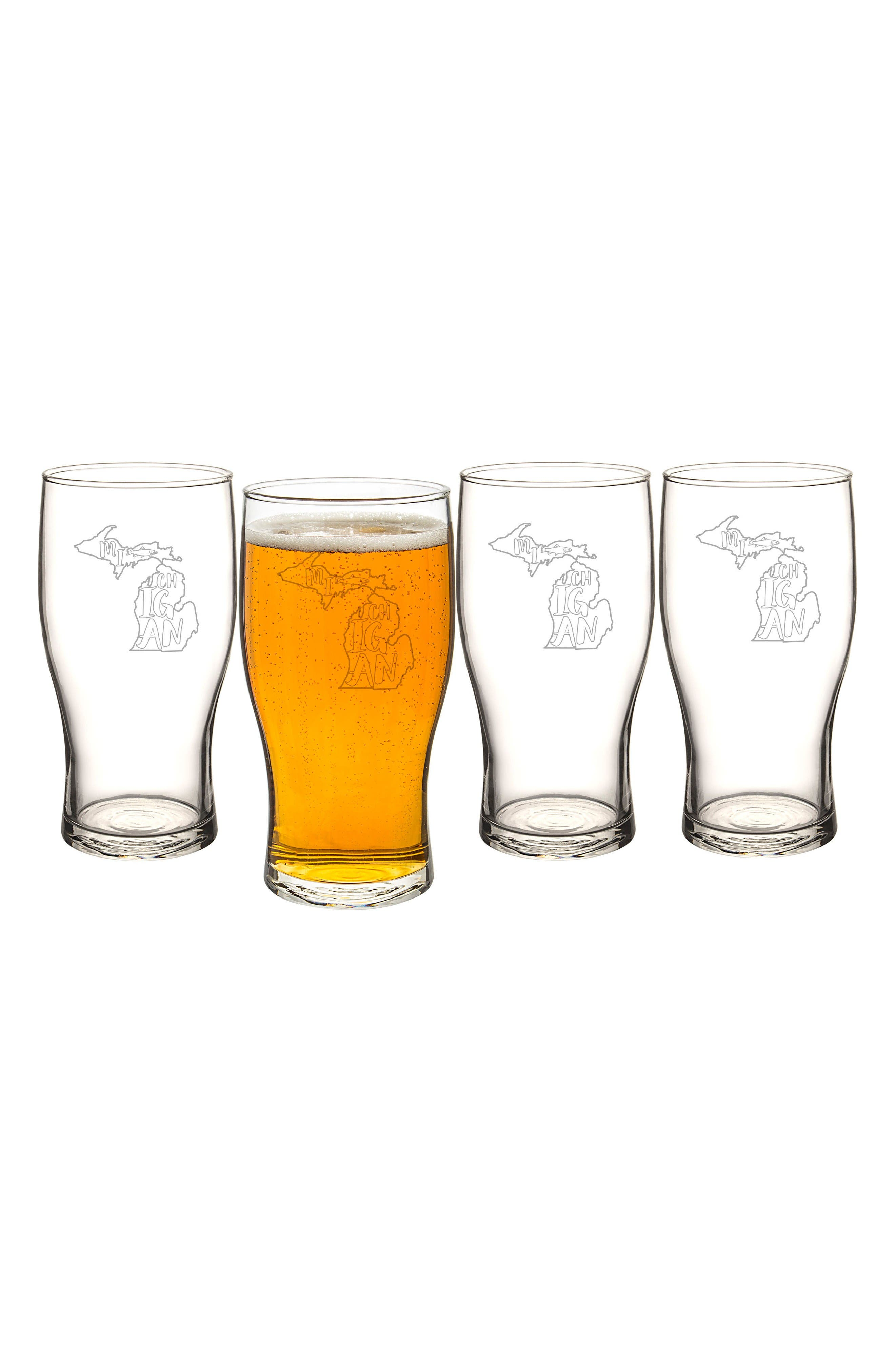 Cathy's Concepts State Set of 4 Pilsner Glasses