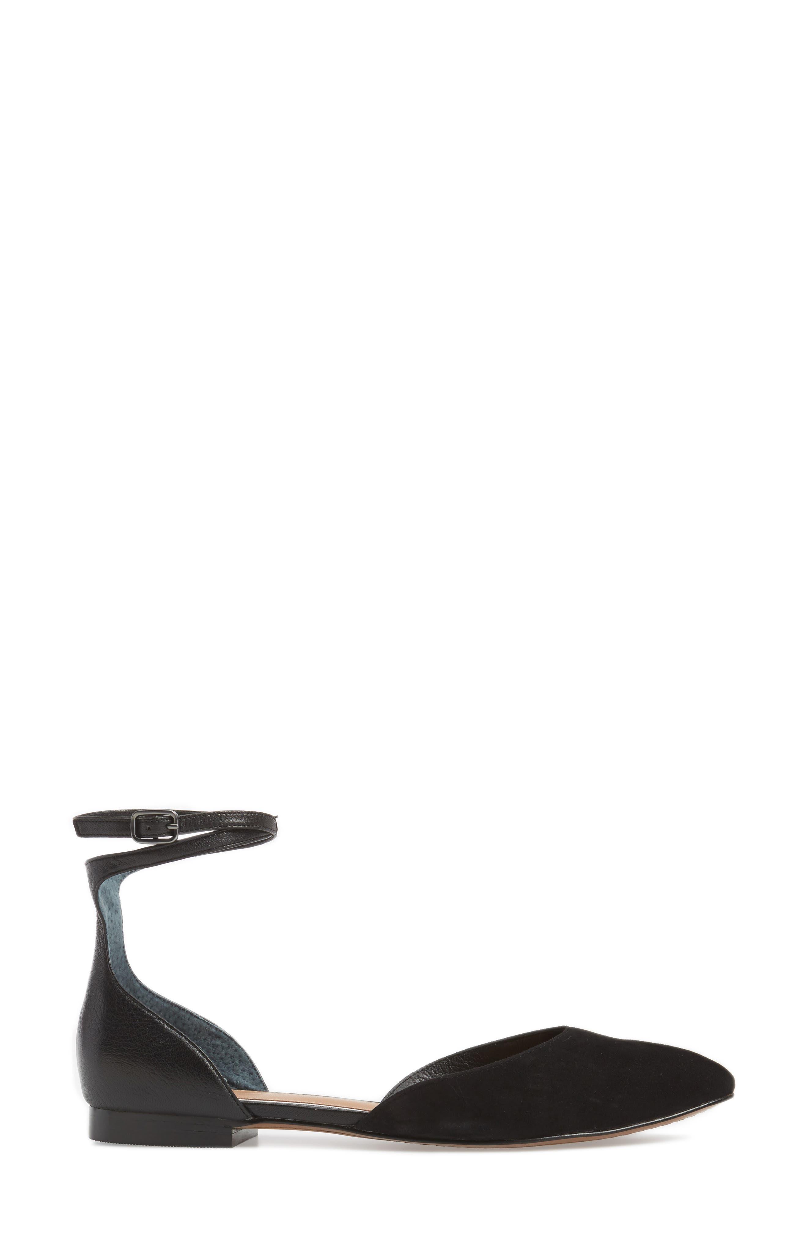 Alternate Image 3  - Linea Paolo Dario Ankle Strap Flat (Women)