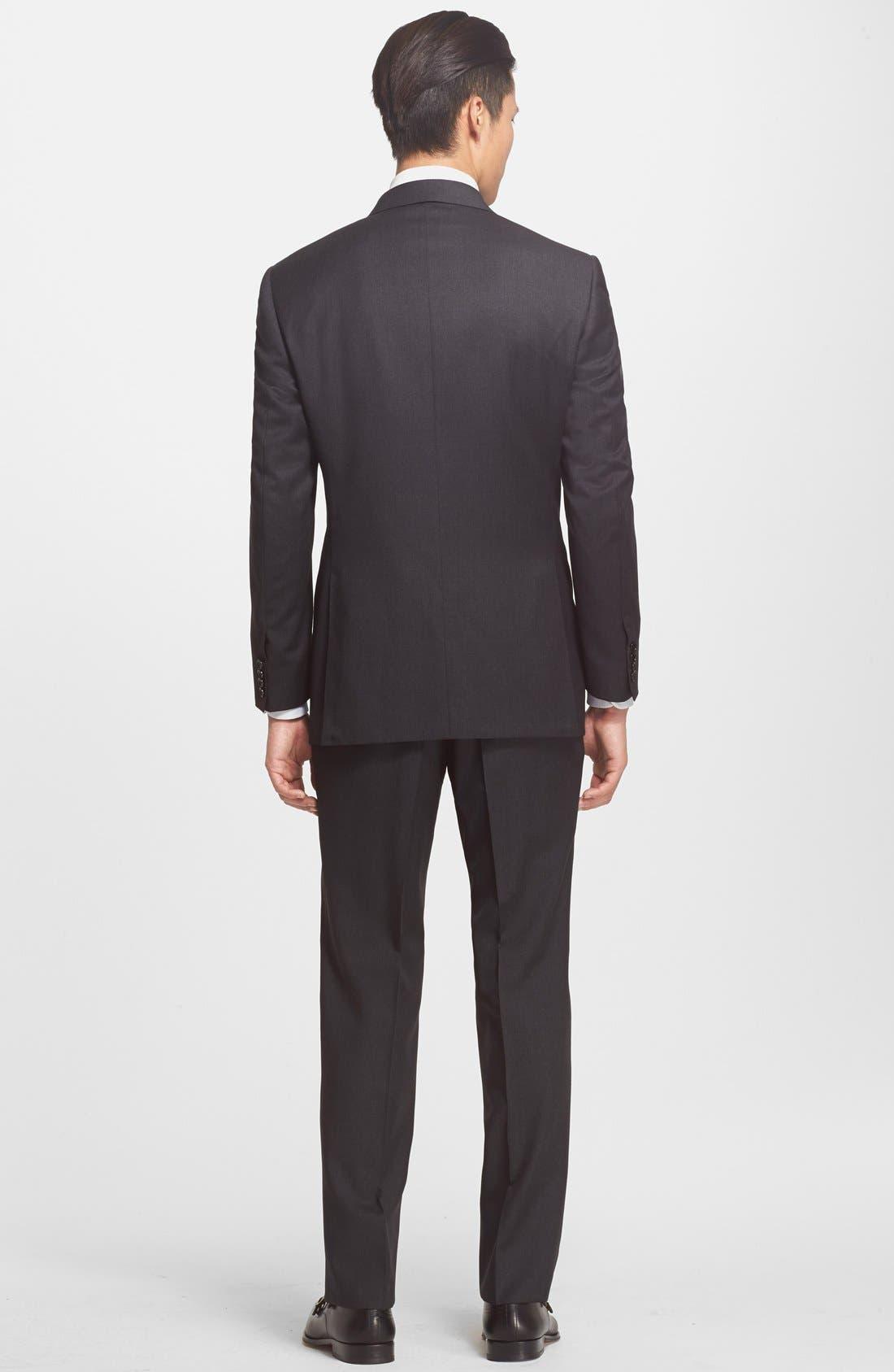 Alternate Image 2  - Canali Trim Fit Wool Suit