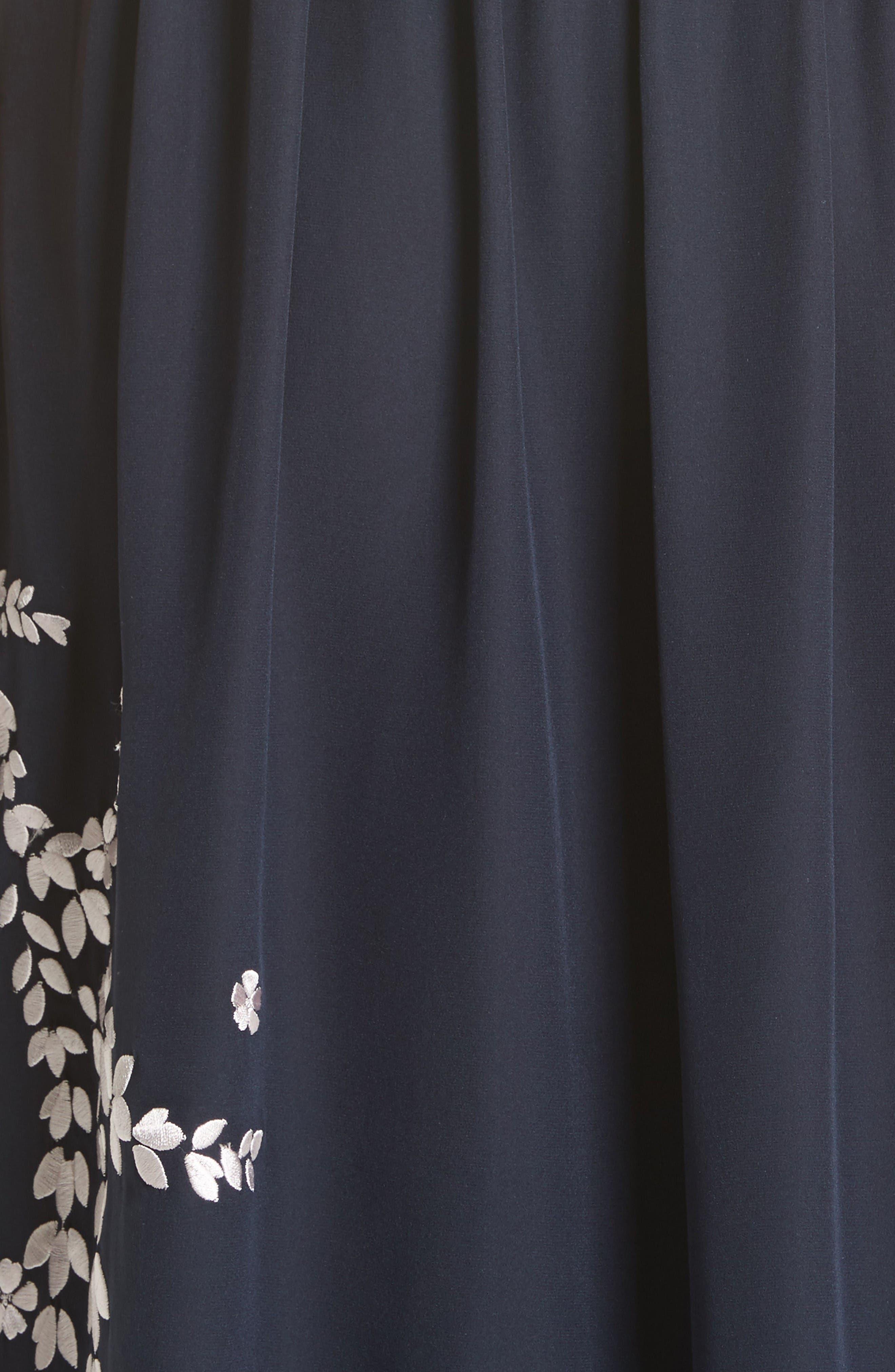 Alternate Image 5  - Cinq à Sept Lenore Embroidered Silk Shirtdress