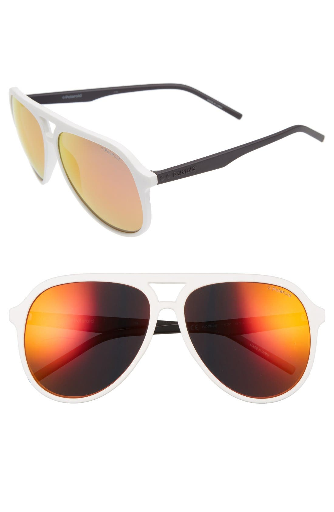 Polaroid Eyewear 59mm Aviator Sunglasses