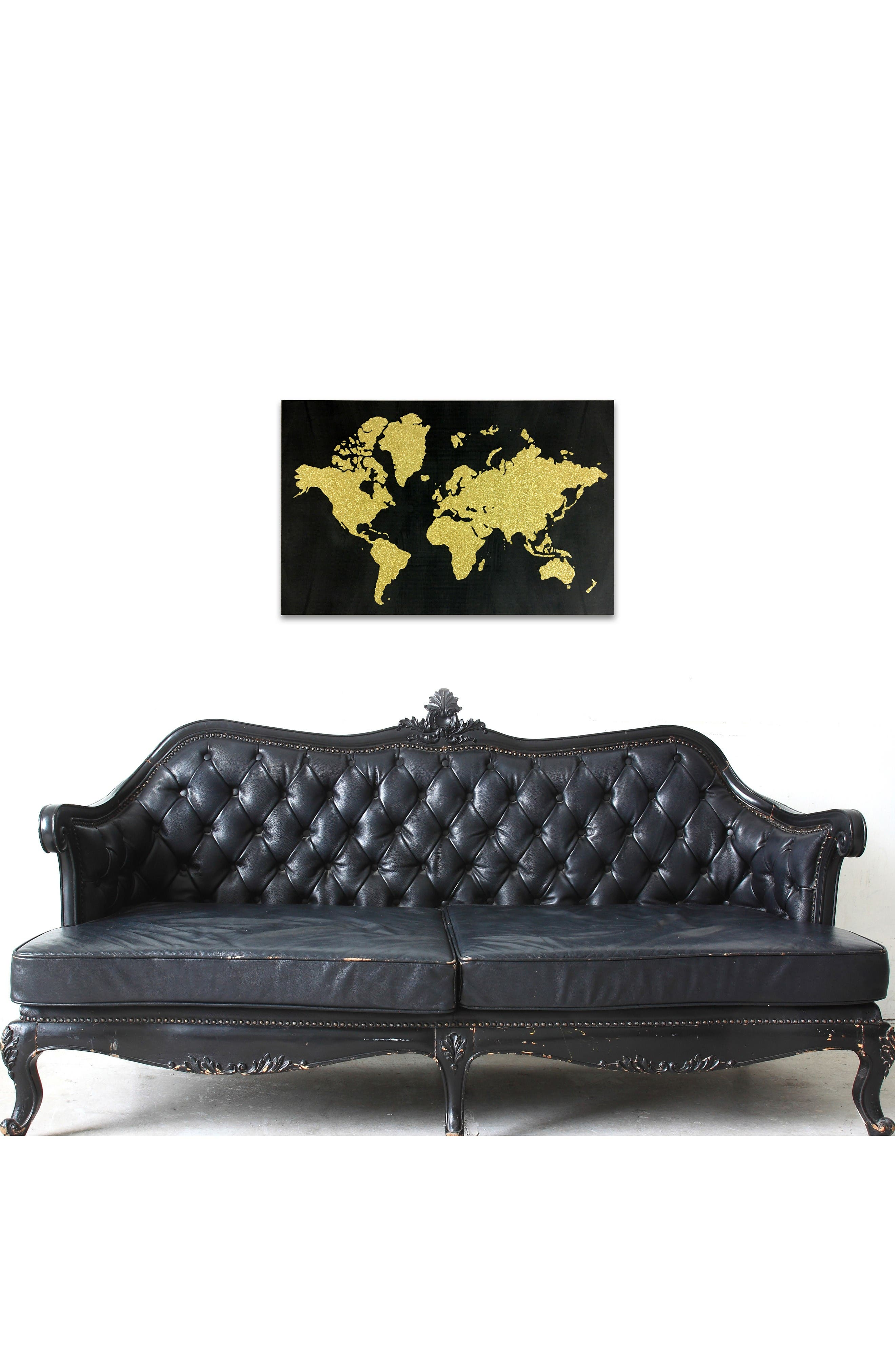 Alternate Image 2  - Wynwood World Map Canvas Wall Art