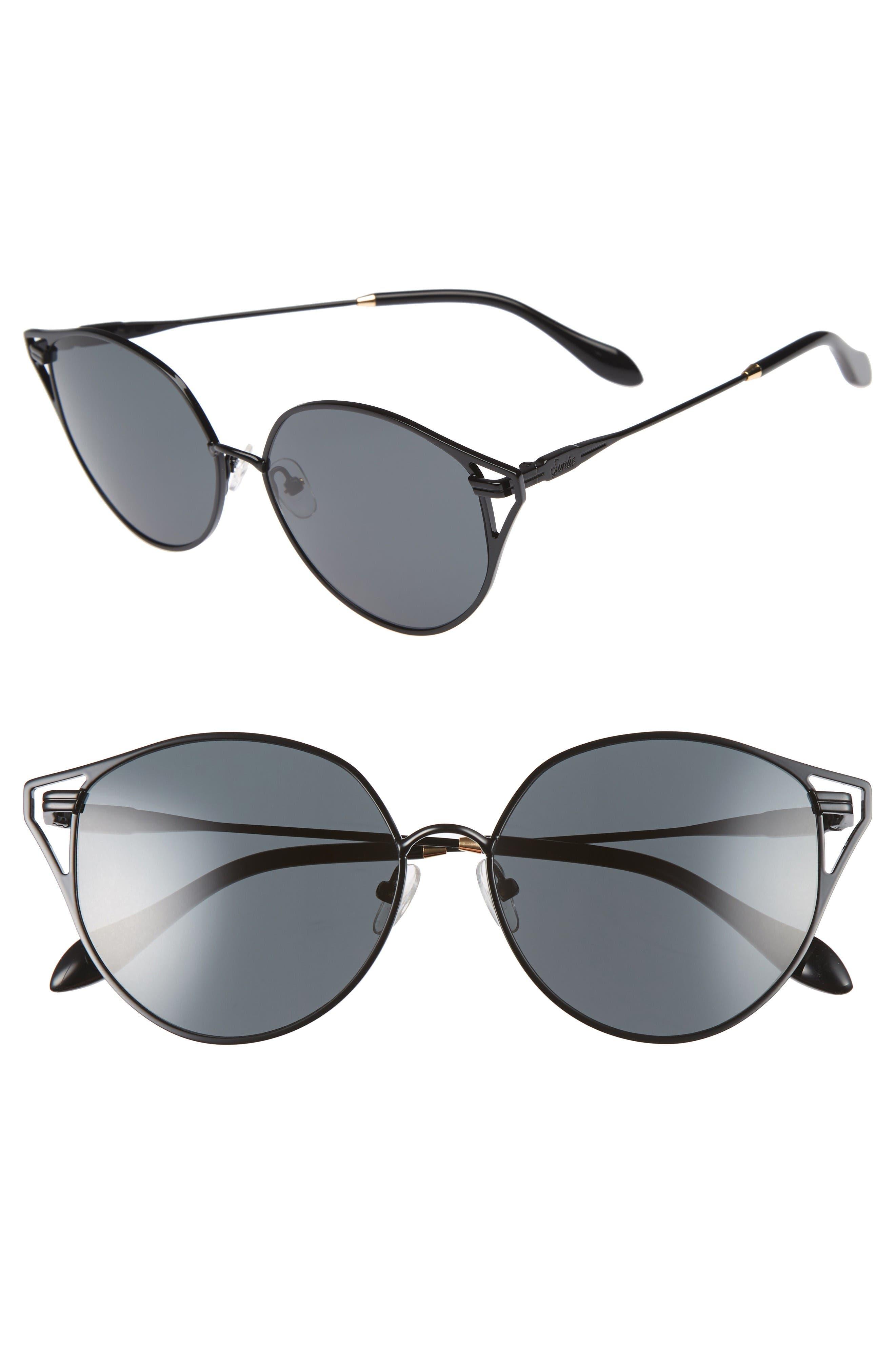 Sonix Ibiza 55mm Cat Eye Sunglasses