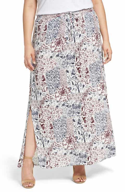 Caslon® Maxi Skirt (Plus Size)